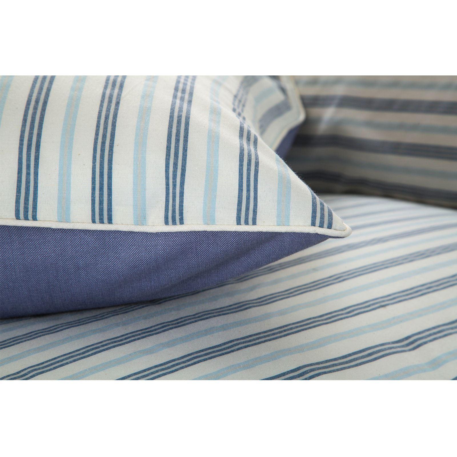 De-Lujo-Suave-Algodon-Rico-Tejido-Stripe-Multi-Funda-Nordica-Edredon-De-Rayas-Juego-De-Cama miniatura 26