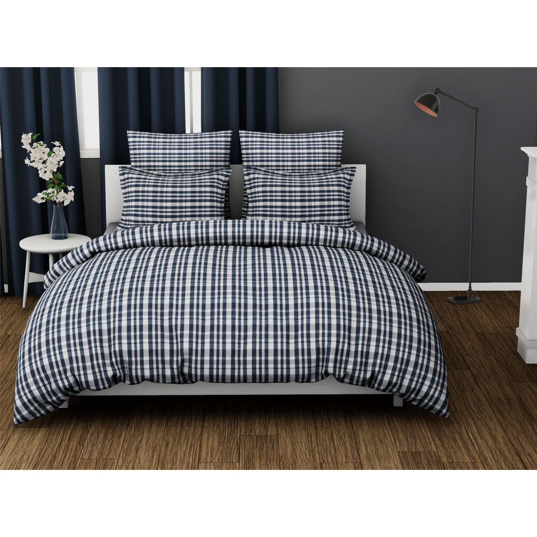 100-Algodon-Cuidado-facil-cubierta-del-edredon-edredon-multicolor-nuevo-conjunto-de-ropa-de-cama miniatura 12