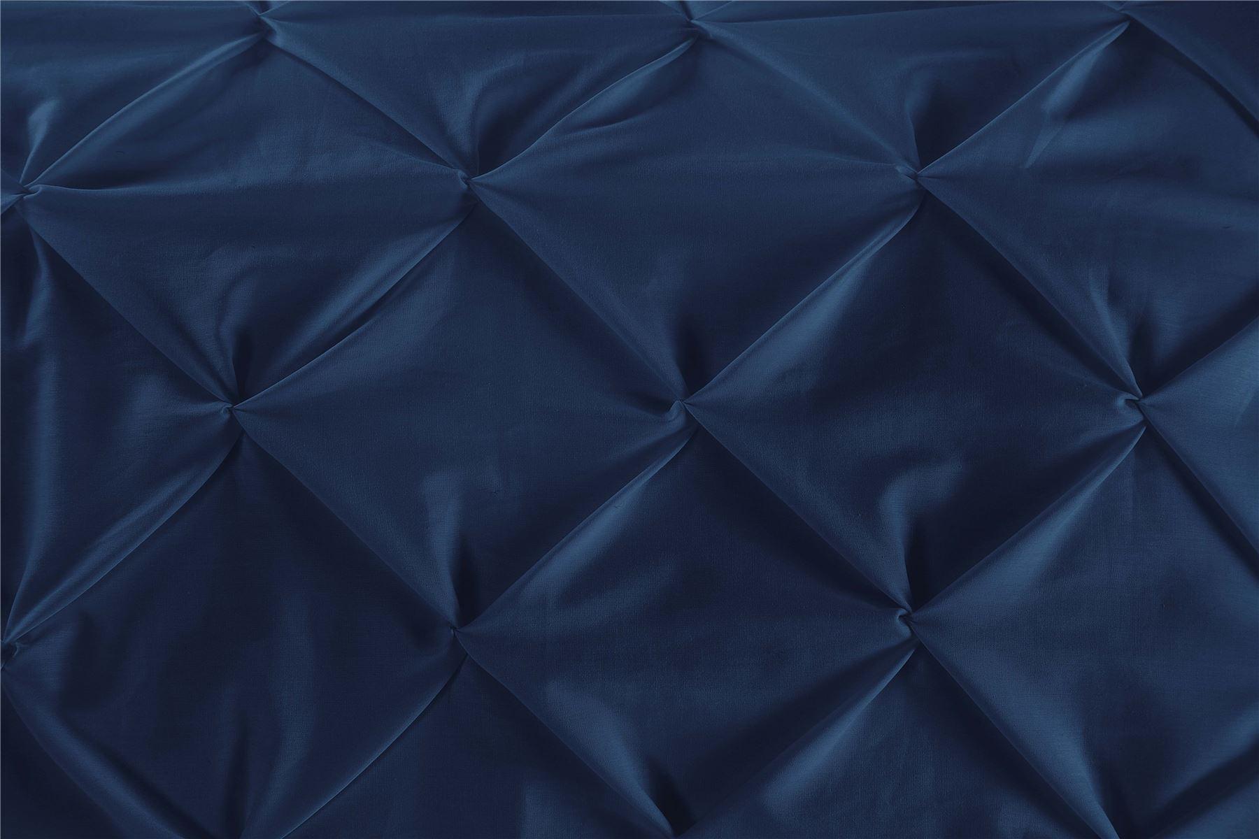 Luxury-Pure-100-Cotton-200-Thread-Pinch-Pleat-Pintuck-Puckering-Duvet-Cover-Set thumbnail 21
