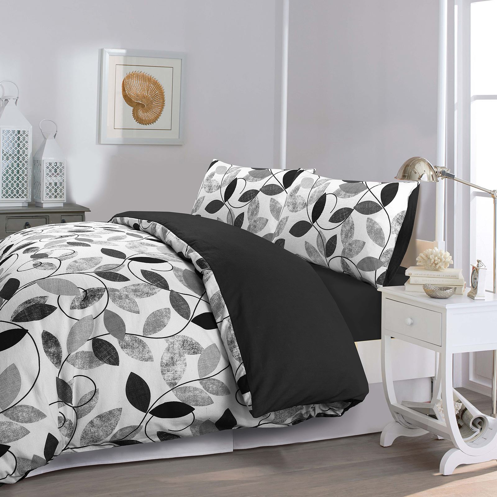 Flannel-100-Brushed-Cotton-Duvet-Cover-Bedding-Set-Single-Double-Super-King thumbnail 13