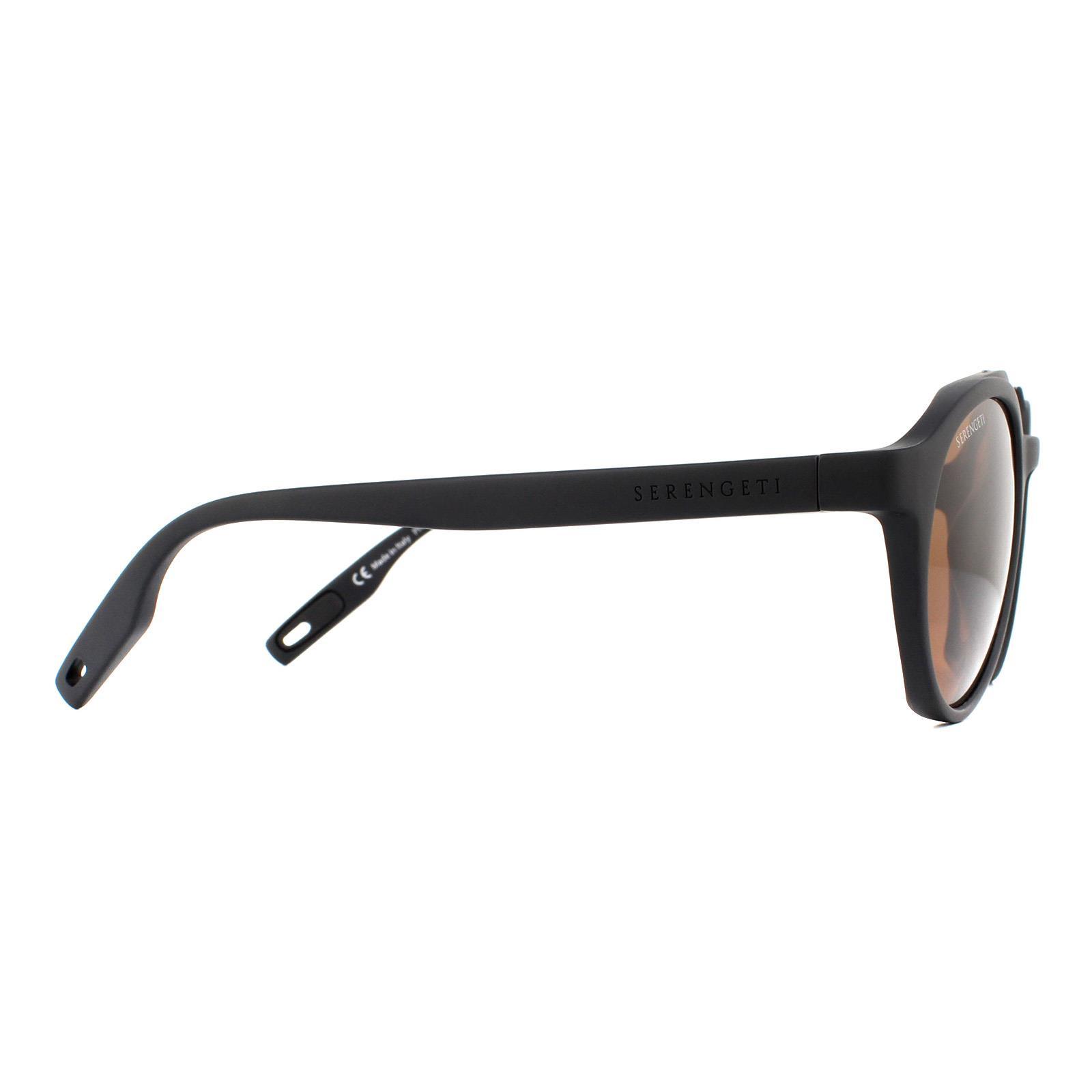 Serengeti Sunglasses Leandro 8592 Matte Black Shiny Gunmetal Polarized Drivers