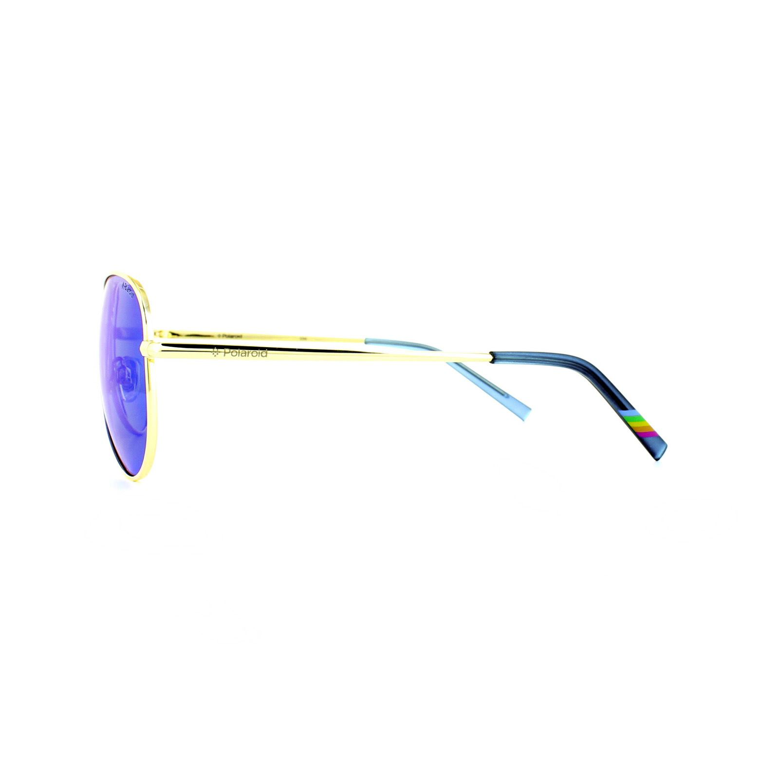 Polaroid Sunglasses 6012//N J5G JY Gold Grey Blue Mirror Polarized