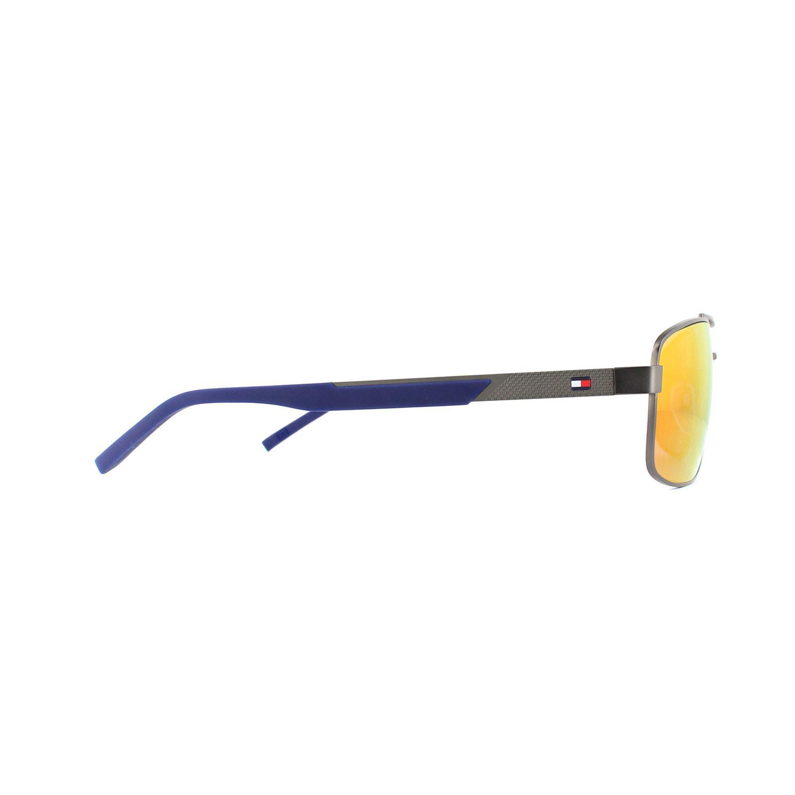 Tommy Hilfiger Sunglasses TH 1674//S R80 MI Dark Ruthenium Grey Infrared Mirror