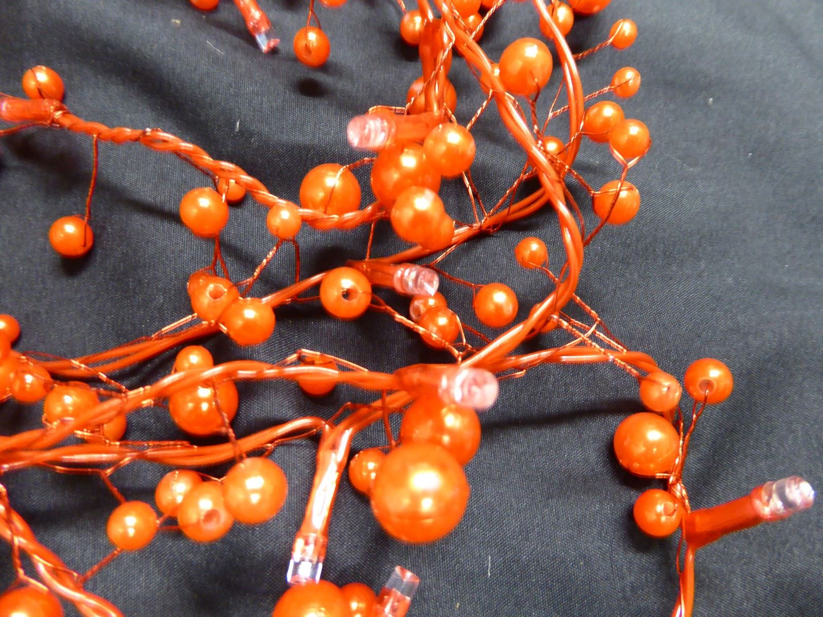 6ft-1-8m-Berry-Twig-Artificial-Christmas-Garland-With-Lights-Decoration thumbnail 10