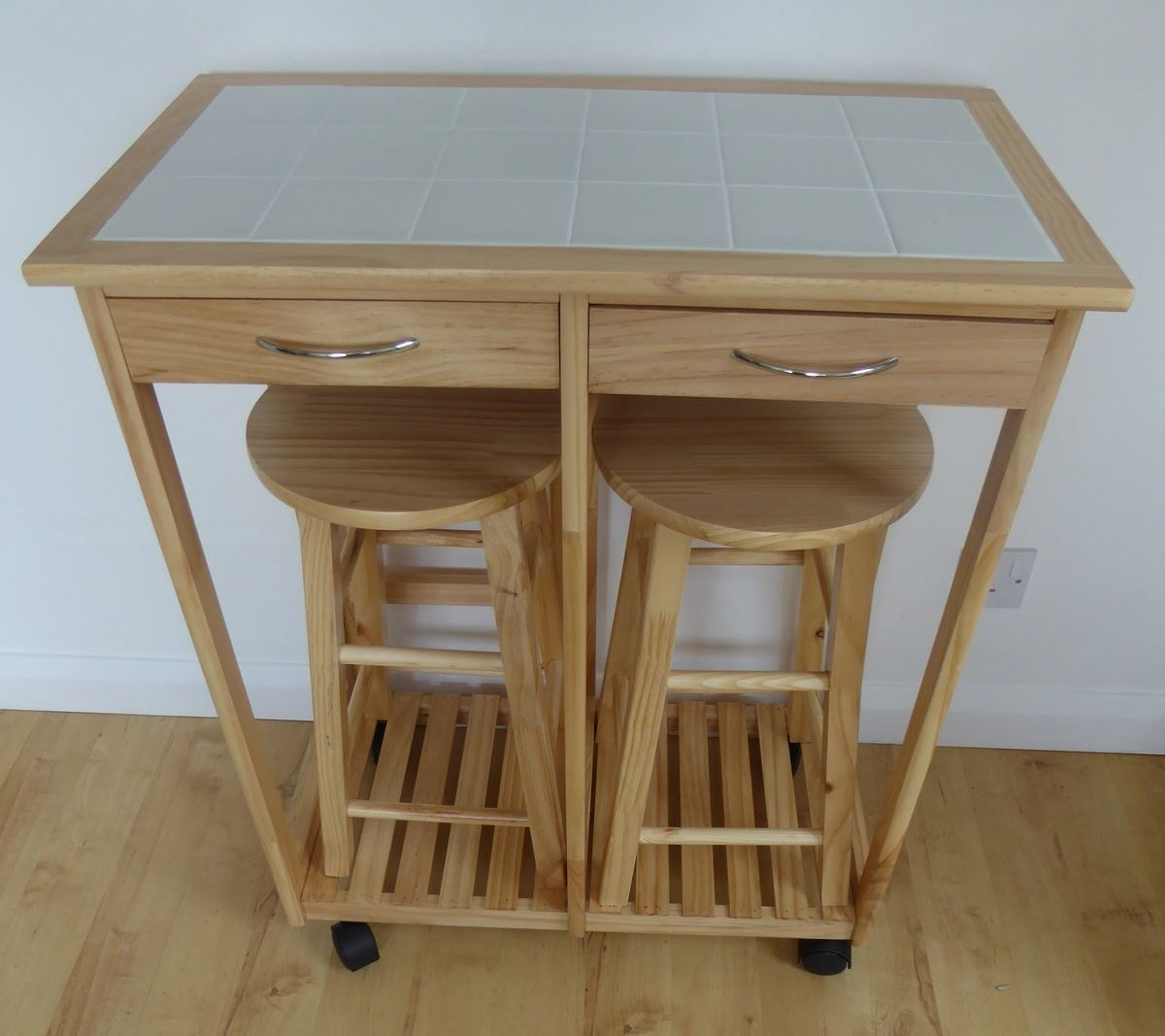 1 Seater 2 Seater Breakfast Bar Set Folding Table Stools