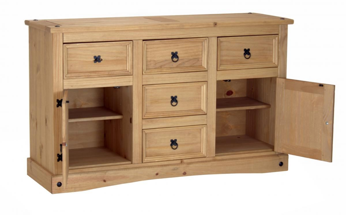 SUMMER SALE CORONA Pine Wood Sideboard Cabinet Book Console Table ...