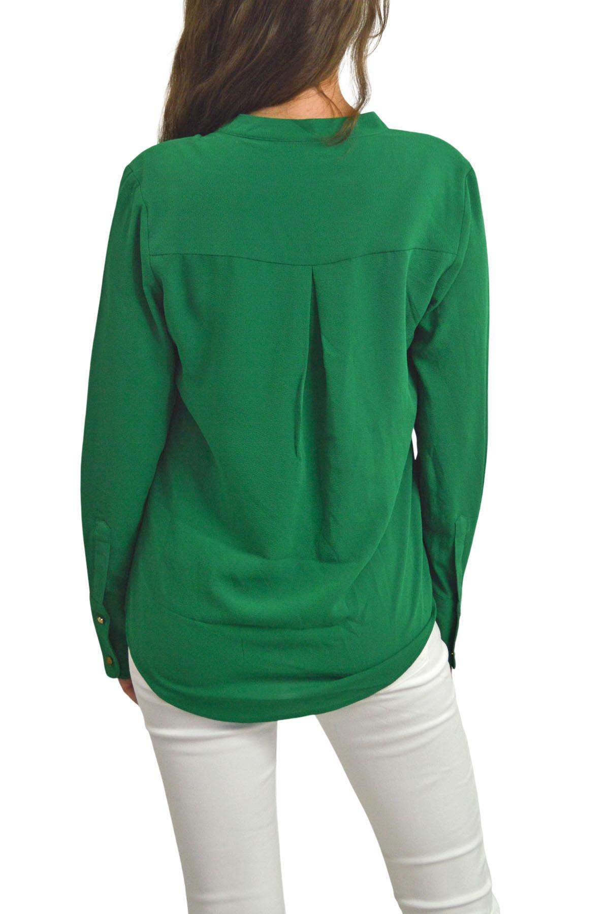 NEW-Ex-M-amp-S-Ladies-Long-Sleeve-V-Neck-Crepe-Tunic-Office-Blouse-Size-6-18 thumbnail 7