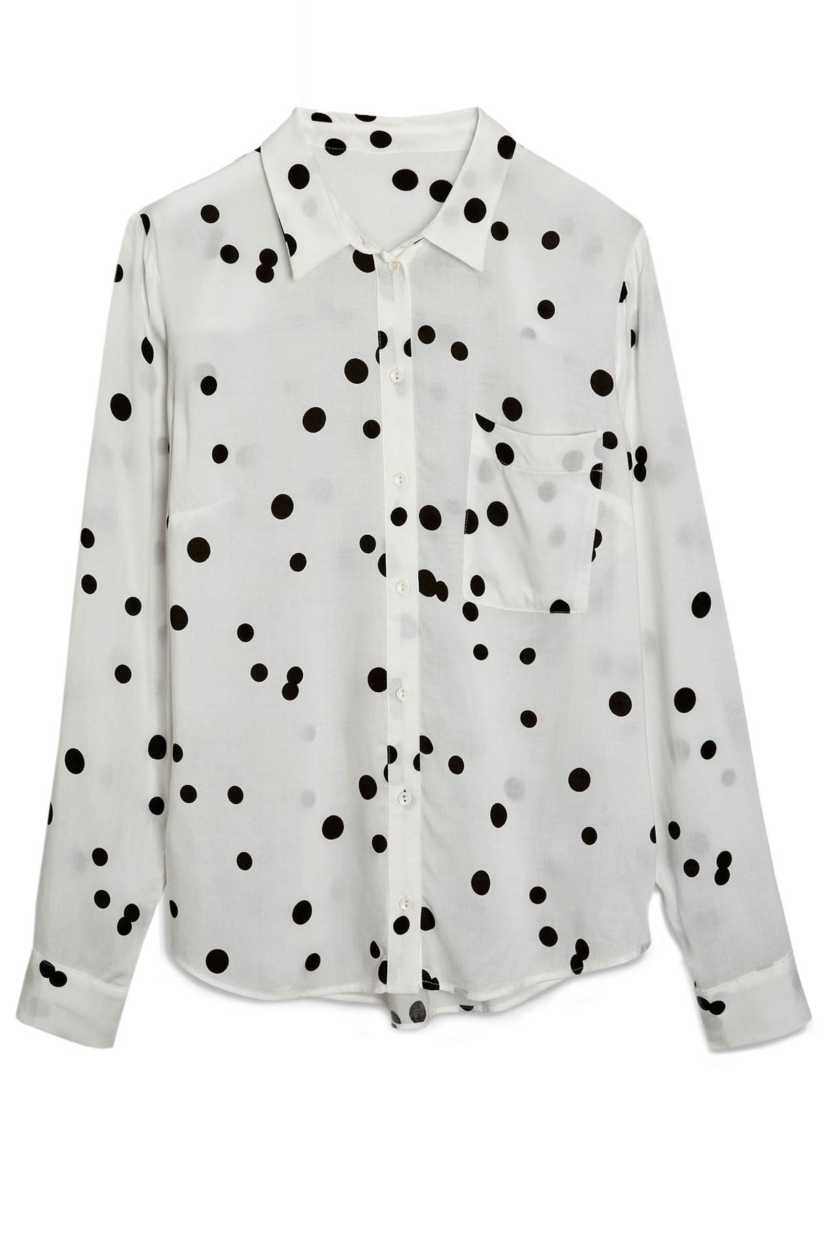 NEXT-Black-White-Spotted-Long-Sleeve-Silky-Shirt-Blouse-SALE-Was-24 thumbnail 16