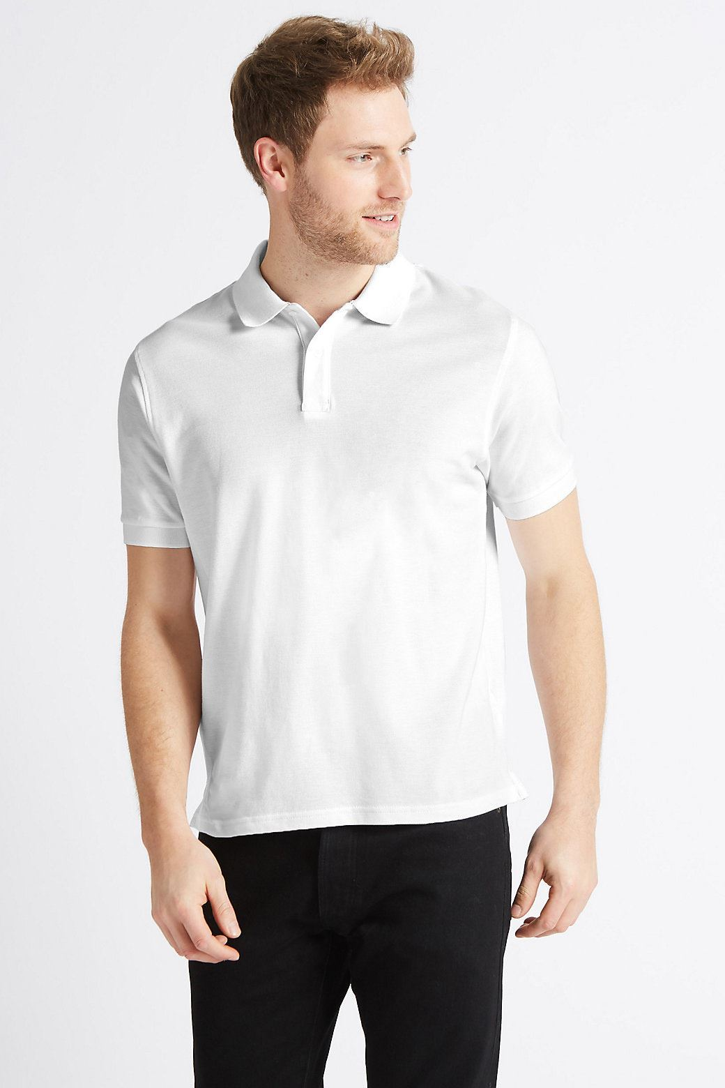 MARKS-amp-SPENCER-Mens-Classic-Cotton-Polo-Shirt-M-amp-S-All-Colours-and-Large-Sizes thumbnail 25