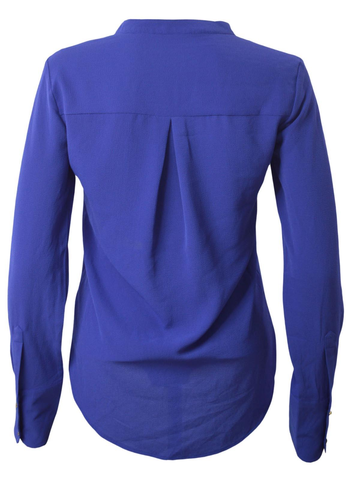 NEW-Ex-M-amp-S-Ladies-Long-Sleeve-V-Neck-Crepe-Tunic-Office-Blouse-Size-6-18 thumbnail 9