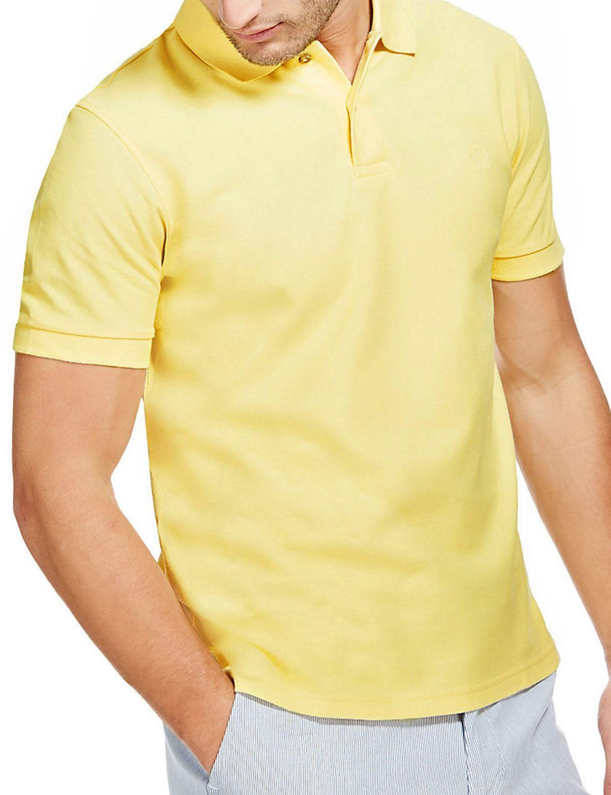 Ex-M-amp-S-Mens-Cotton-Polo-Shirt-Marks-amp-Spencer-Blue-Harbour-Size-S-M thumbnail 11