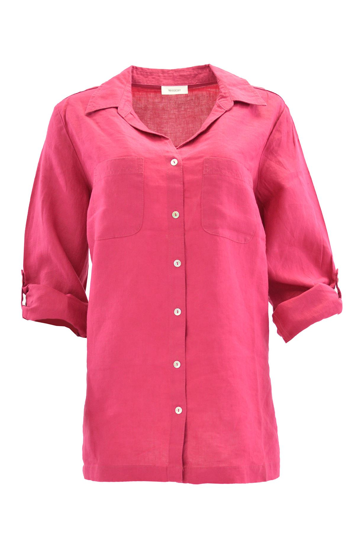 YESSICA-Linen-Blouse-Shirt-in-Pink-or-Ivory-RRP-25 thumbnail 14