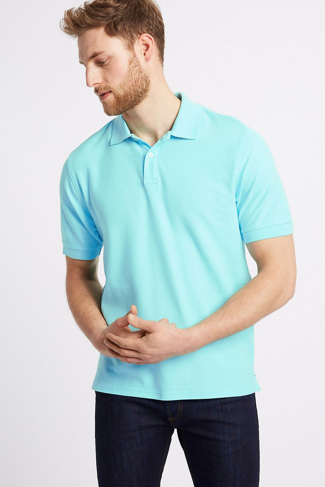 Ex-Marks-and-Spencer-Mens-Cotton-Pique-Polo-Shirt-NEW-Sizes-S-3XL thumbnail 28