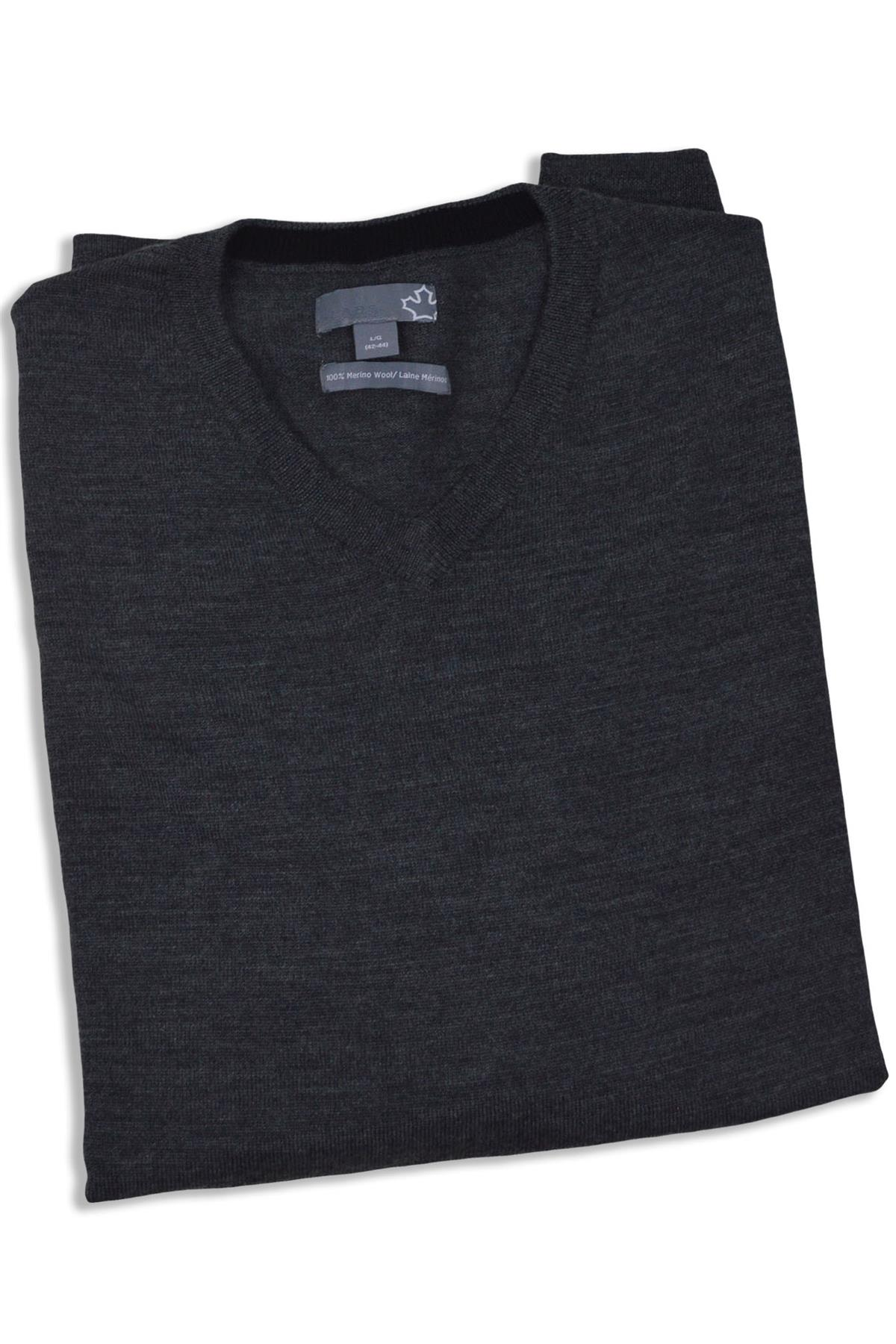 SEARS-Mens-Pure-Merino-Wool-V-Neck-Jumper-Pullover-Super-Quality thumbnail 15