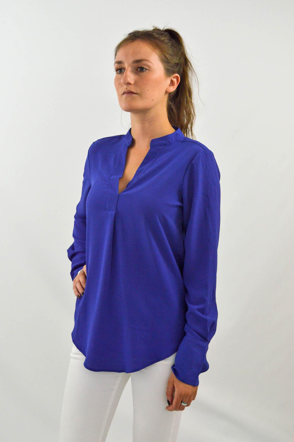 MARKS-amp-SPENCER-Womens-Long-Sleeve-V-Neck-Tunic-Blouse-Size-6-CLEARANCE thumbnail 19