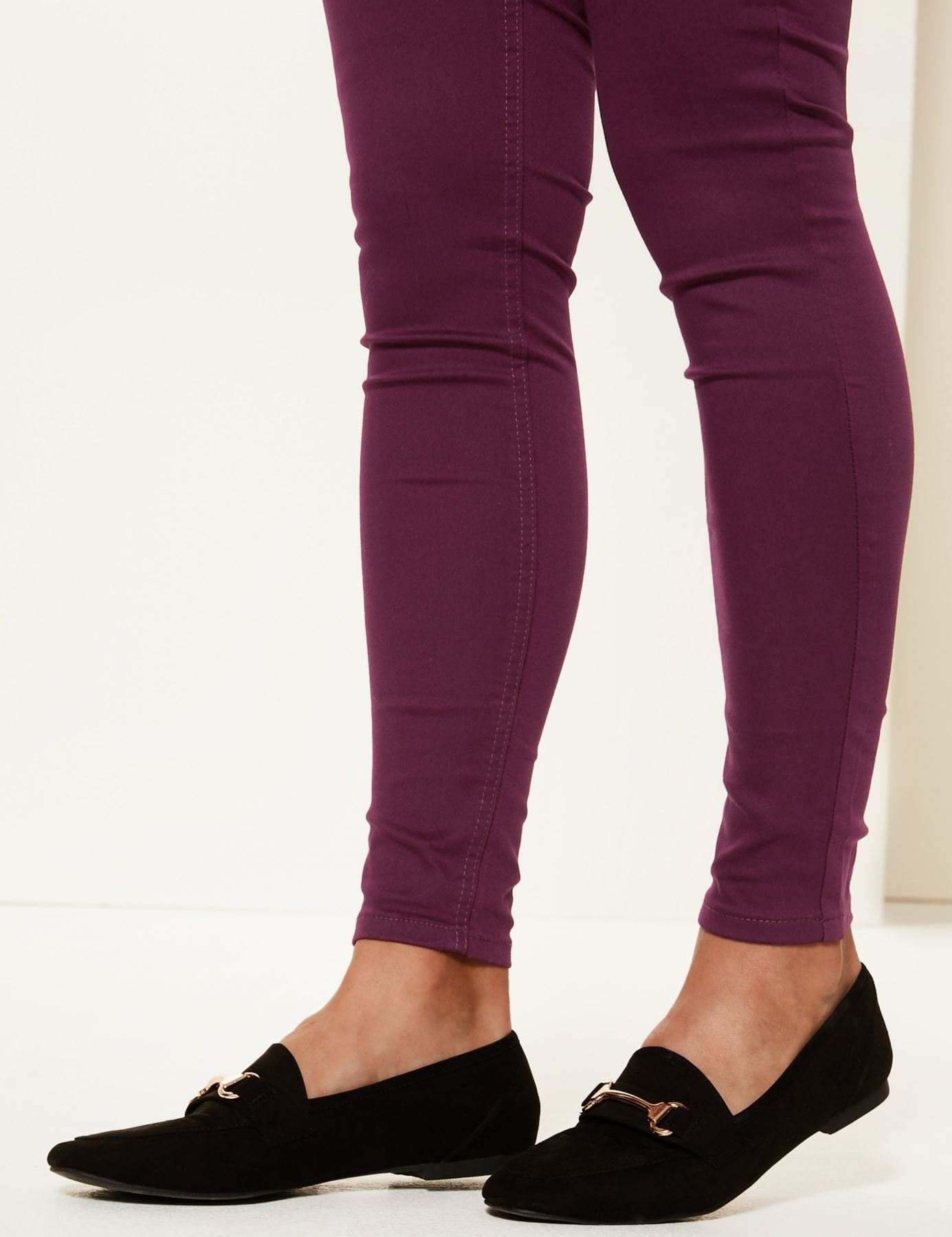 NEW-Ex-M-amp-S-Womens-Stretch-Fit-High-Waist-Skinny-Jeggings-Size-8-10-12-14-16-18 thumbnail 20