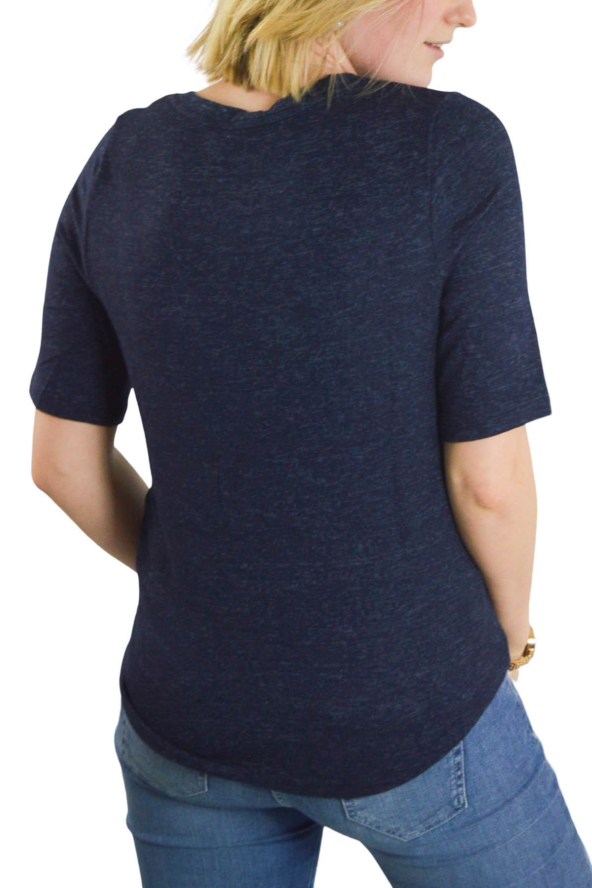 Ex-M-amp-S-Round-Neck-Fine-Knit-Short-Sleeve-Jumper-Top-Pale-Pink-or-Navy-Size-8-24 thumbnail 10