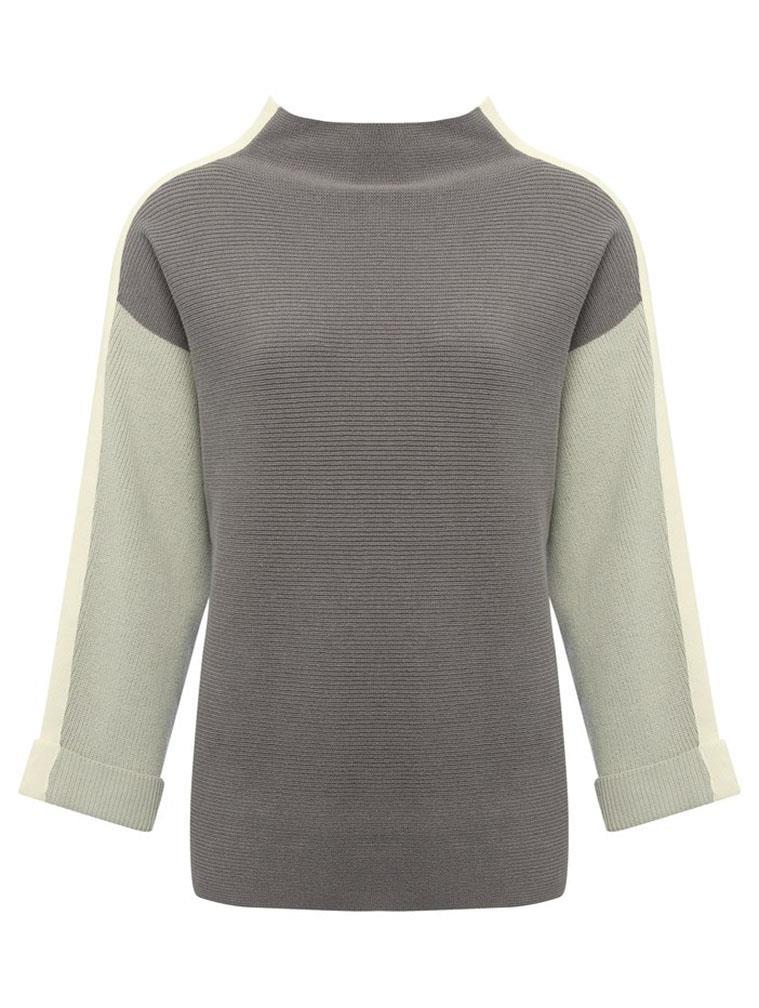 M/&S Womens Black White Stripe Fine Knit JumperSALEWas £25