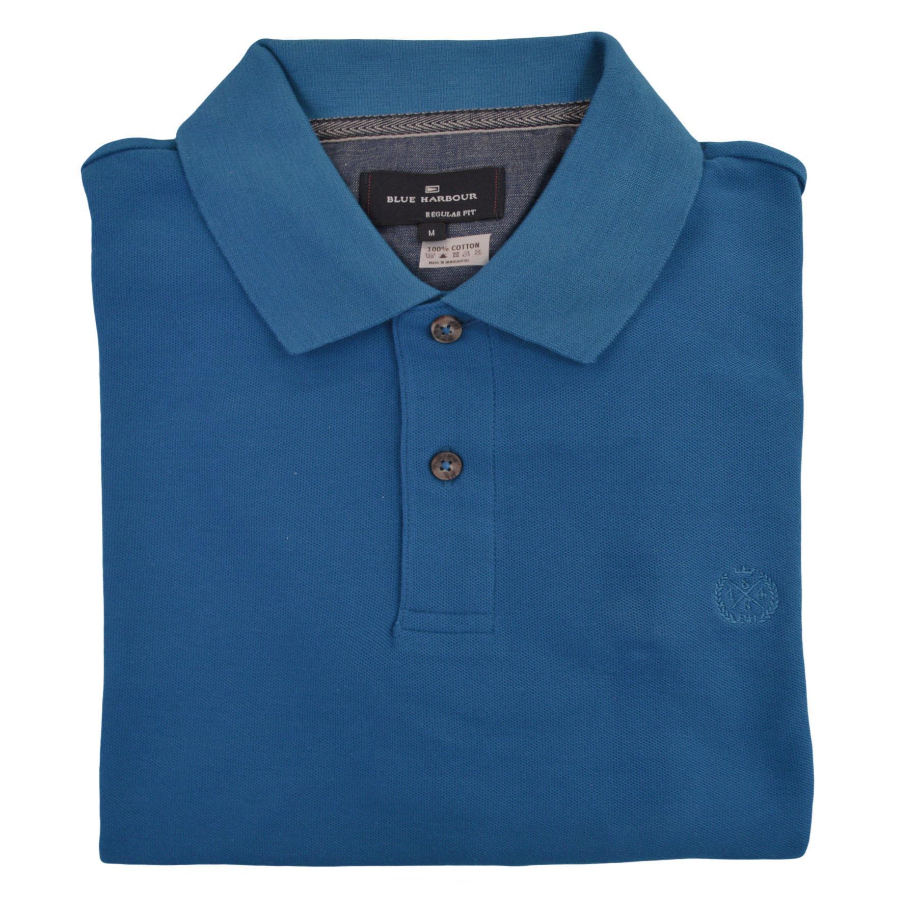 M-amp-S-BLUE-HARBOUR-Camisa-Polo-Para-Hombre-a-Rayas-Contraste-Cuello-Logotipo-Bordado miniatura 7