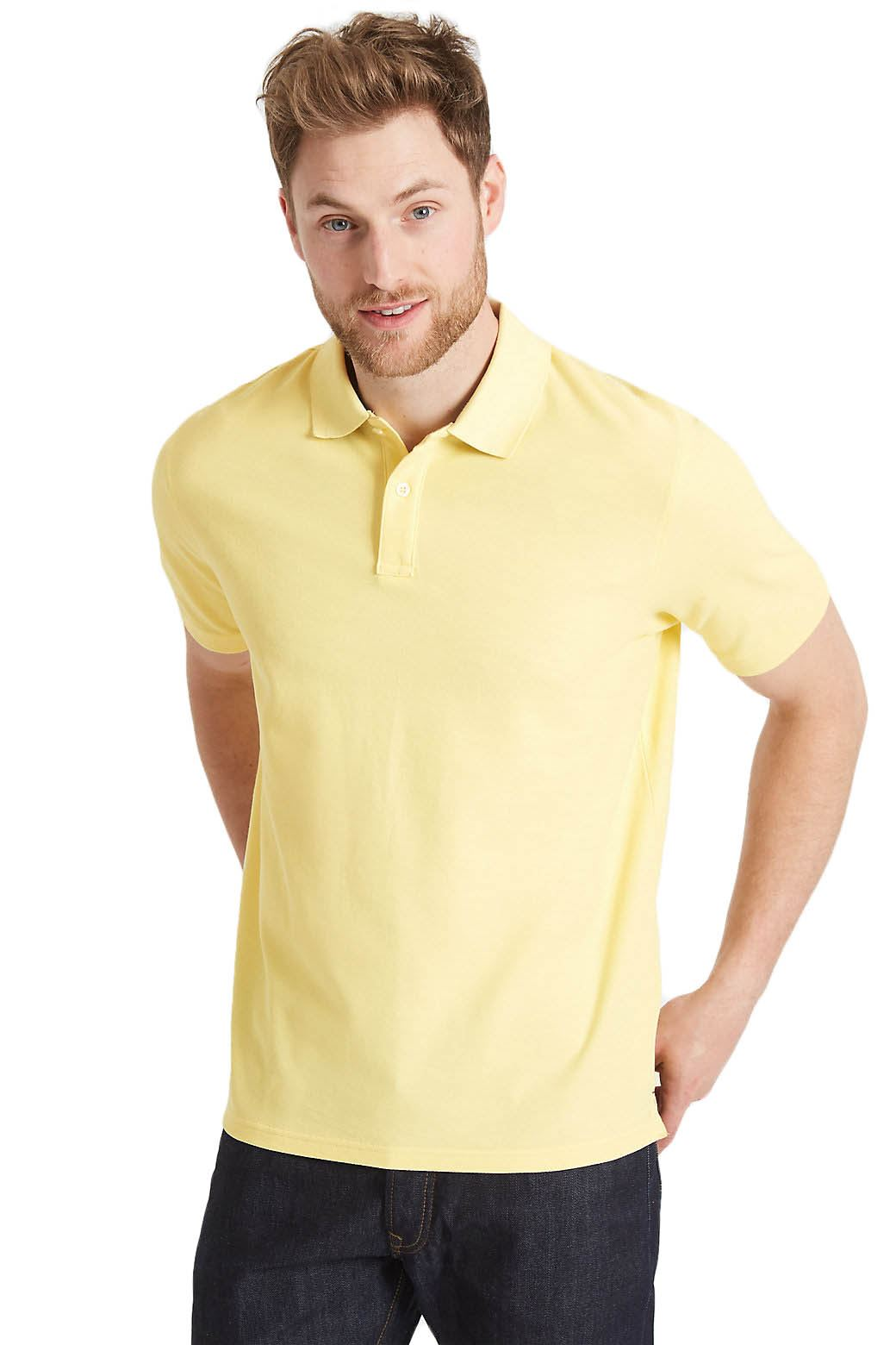 Ex-Marks-and-Spencer-Mens-Cotton-Pique-Polo-Shirt-NEW-Sizes-S-3XL thumbnail 33