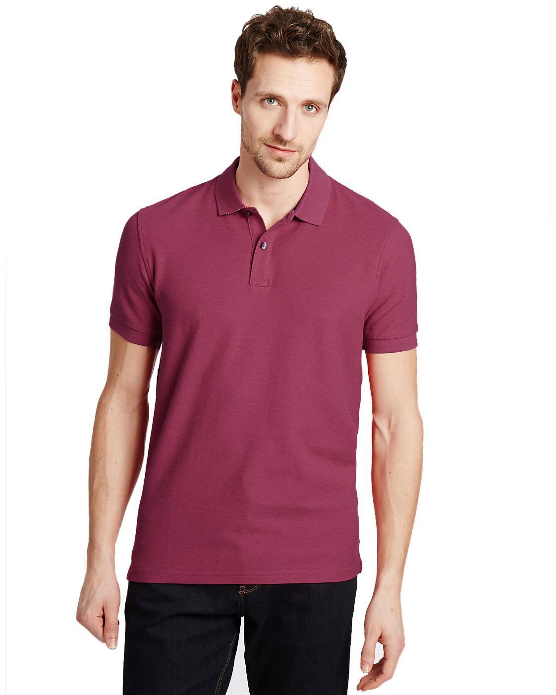 Ex-M-amp-S-Mens-Cotton-Polo-Shirt-Marks-amp-Spencer-Blue-Harbour-Size-S-M thumbnail 9