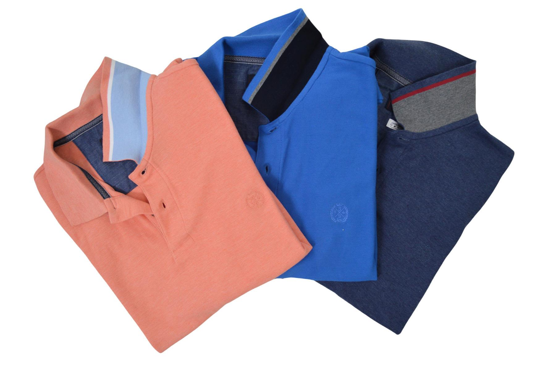 NEW-M-amp-S-Blue-Harbour-Mens-Polo-Shirt-Contrast-Stripe-Collar-Embroidered-Logo thumbnail 6