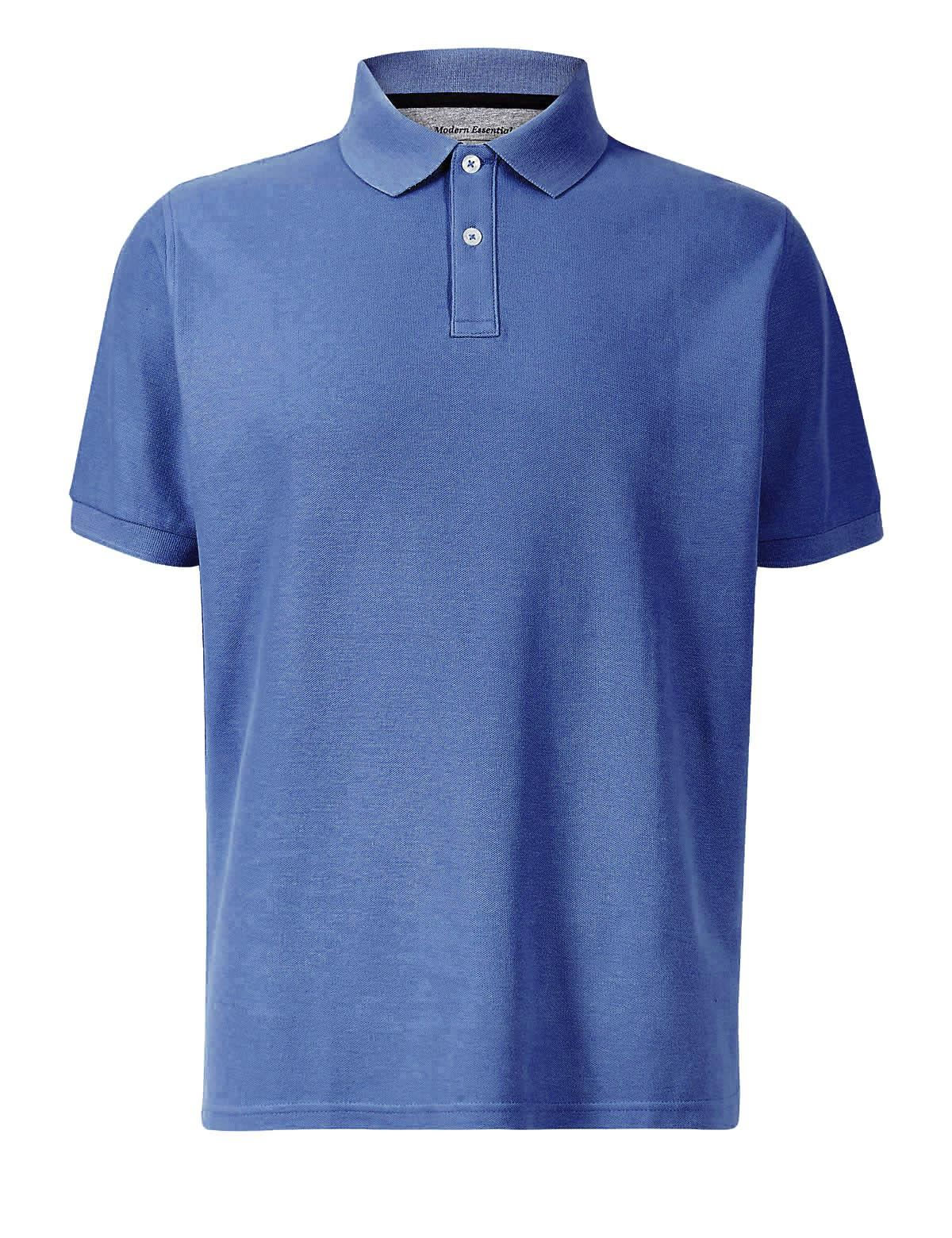 MARKS-amp-SPENCER-Mens-Classic-Cotton-Polo-Shirt-M-amp-S-All-Colours-and-Large-Sizes thumbnail 9