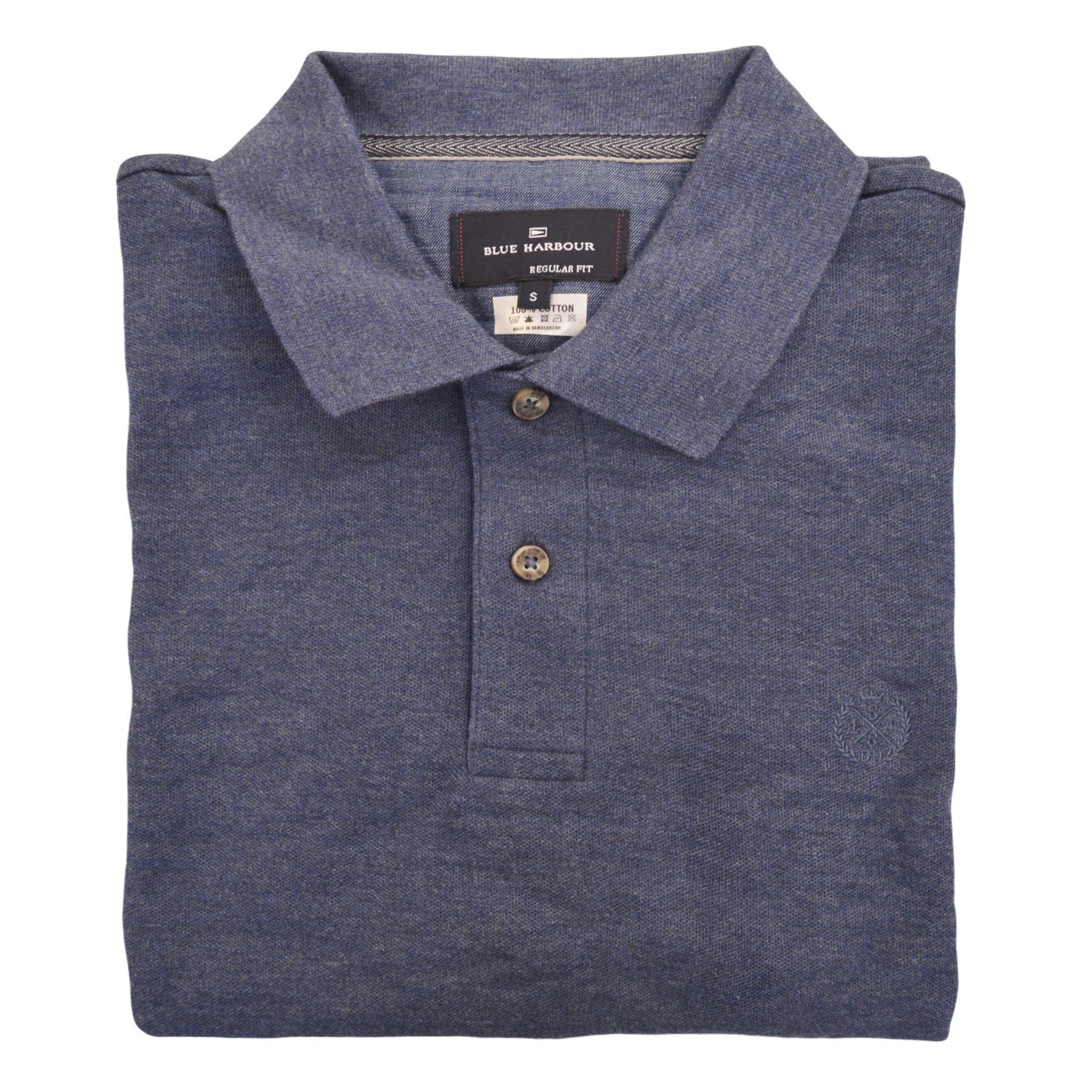 M-amp-S-BLUE-HARBOUR-Camisa-Polo-Para-Hombre-a-Rayas-Contraste-Cuello-Logotipo-Bordado miniatura 9