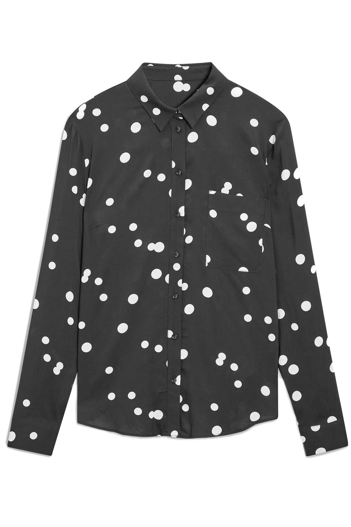 NEXT-Black-White-Spotted-Long-Sleeve-Silky-Shirt-Blouse-SALE-Was-24 thumbnail 9