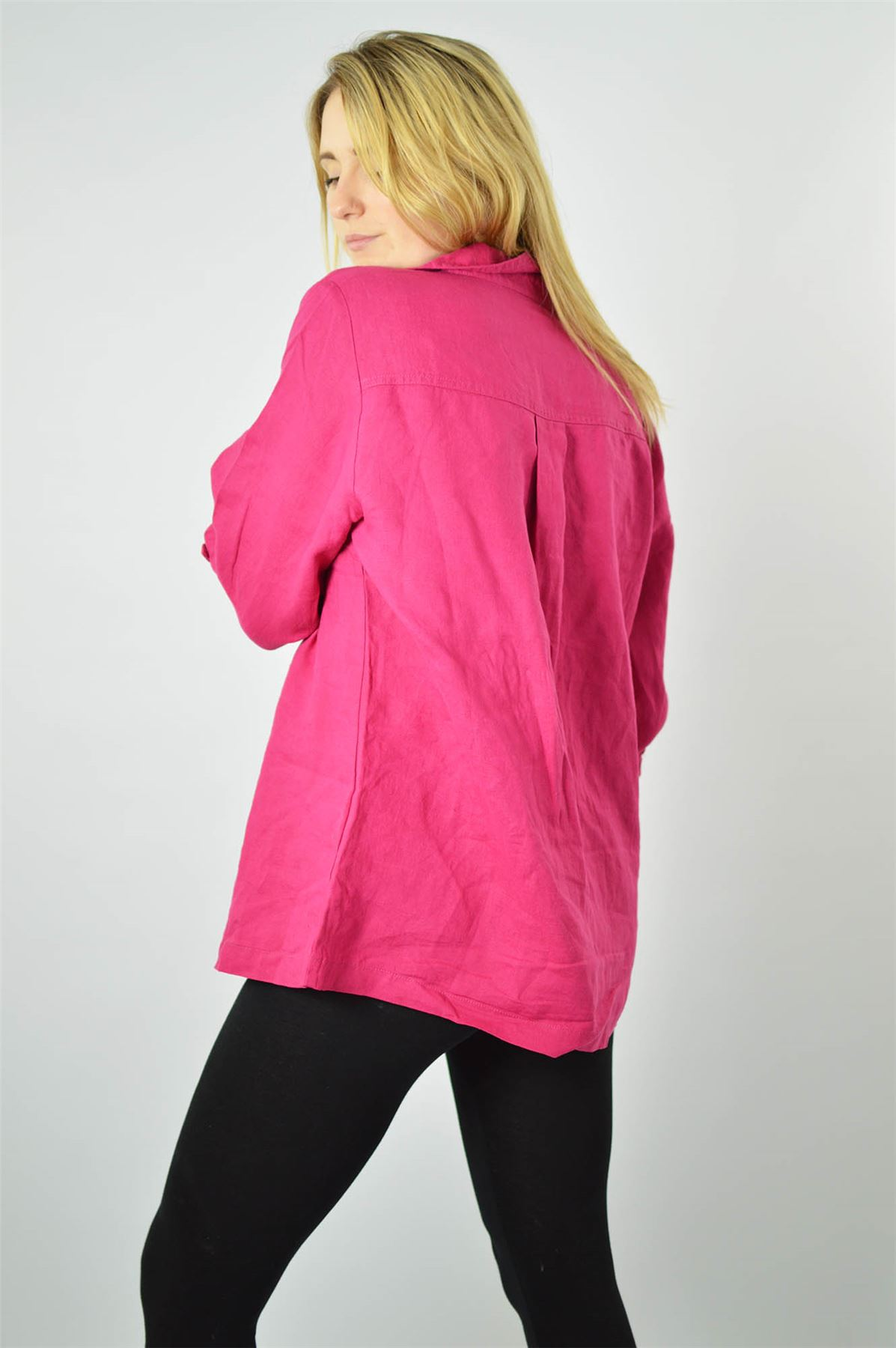YESSICA-Linen-Blouse-Shirt-in-Pink-or-Ivory-RRP-25 thumbnail 12