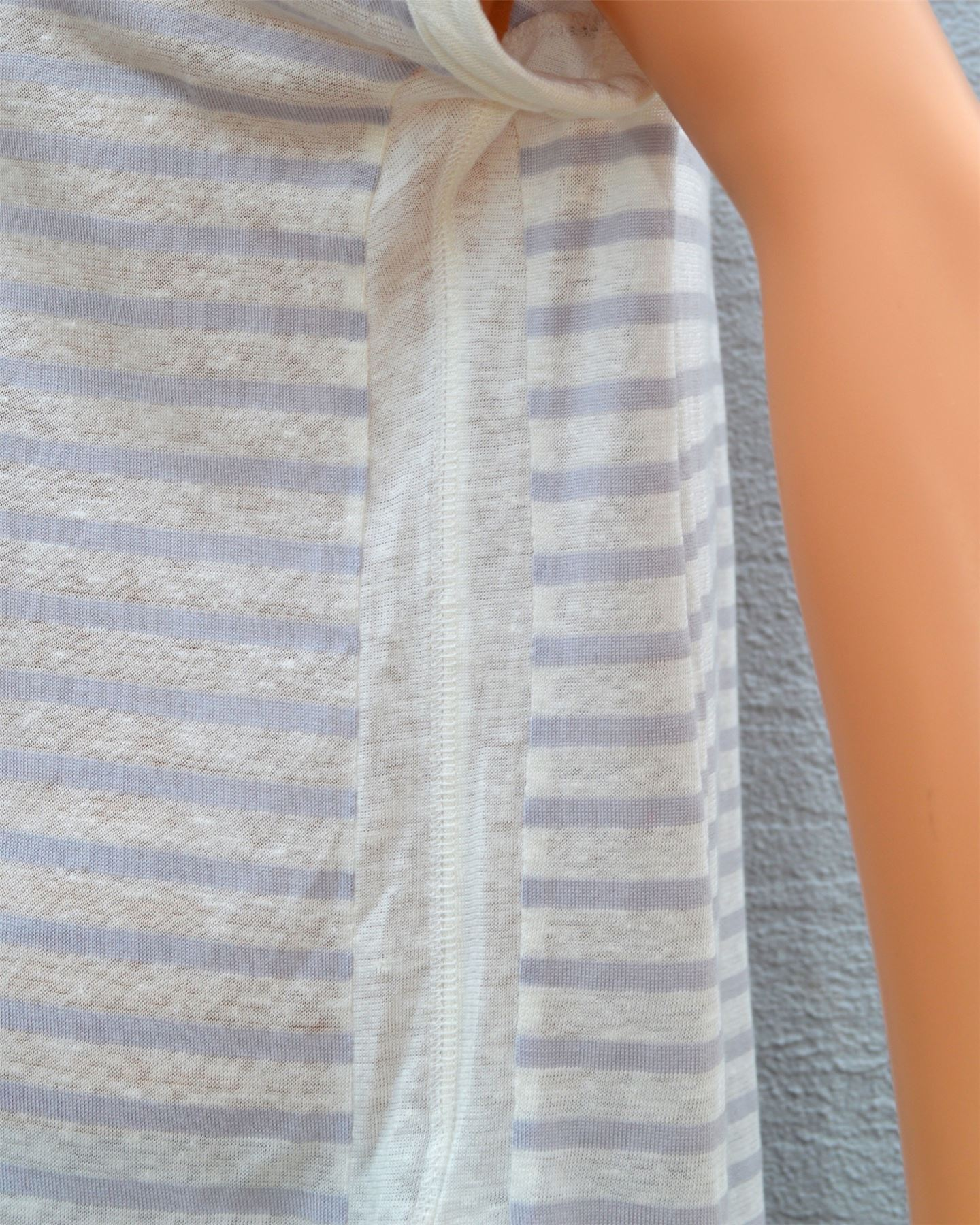 Marks-amp-Spencer-Linen-Striped-Baggy-T-Shirt-Top-Ladies-NEW