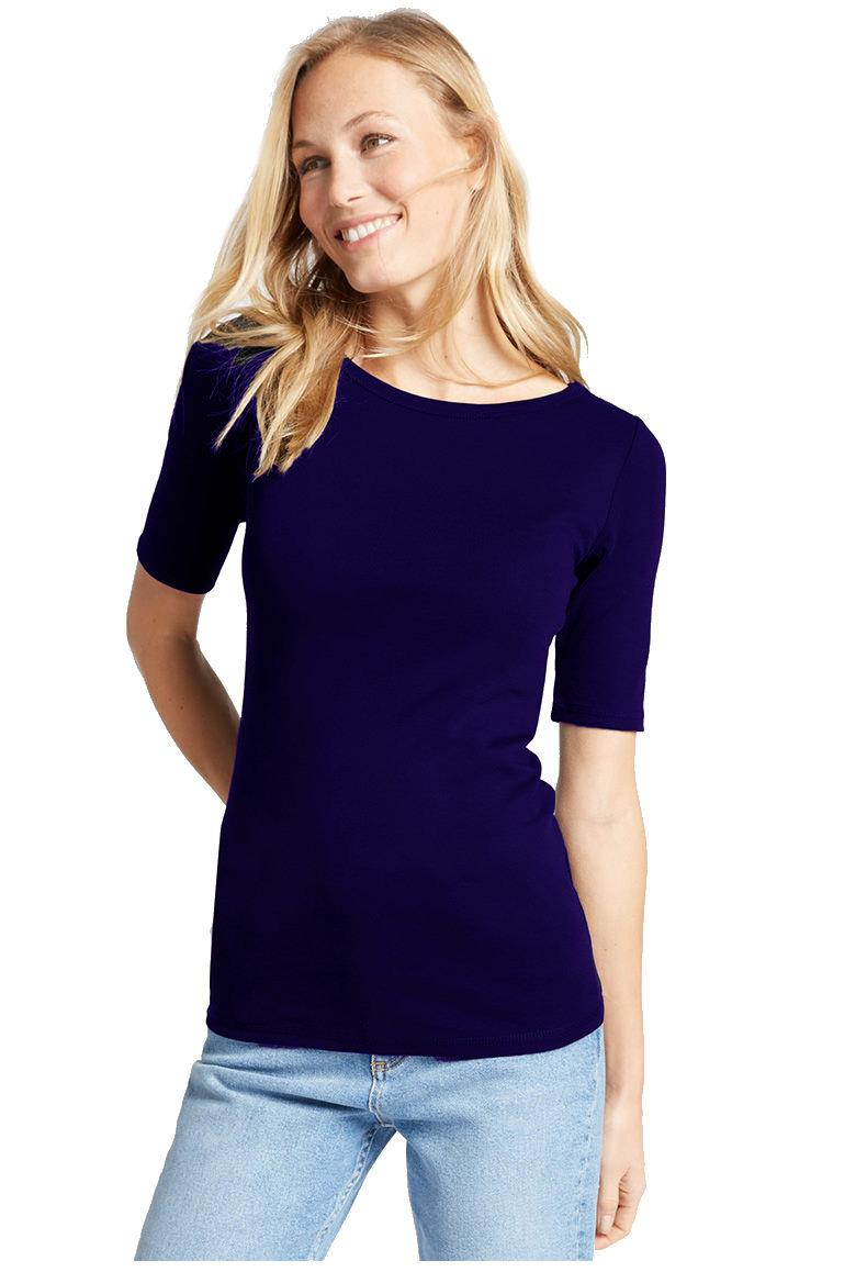 Ladies-Scoop-Neck-Half-Sleeve-T-Shirt-New-ex-M-amp-S-Casual-Regular-Fit-Size-8-22 thumbnail 13