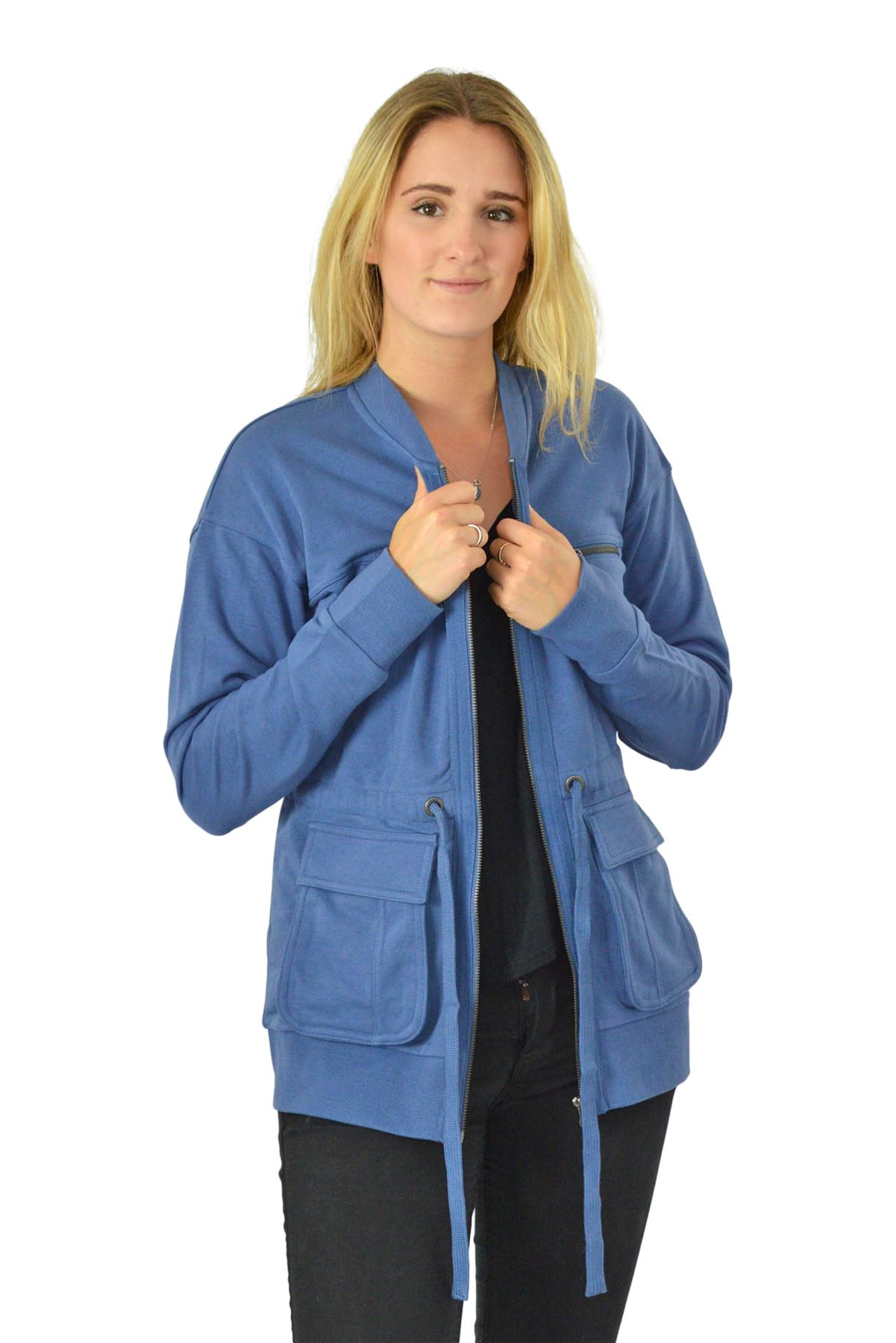 N*XT Zip Front Long Sweatshirt Jacket New Sizes 8-22
