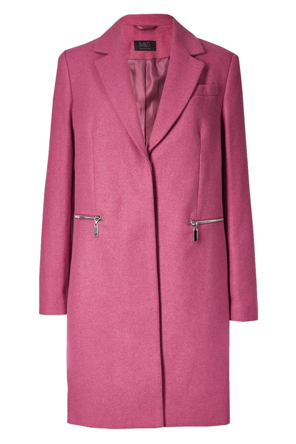 Marks-and-Spencer-Ladies-Size-20-M-amp-S-Pink-Wool-Blend-Coat-Womens thumbnail 14