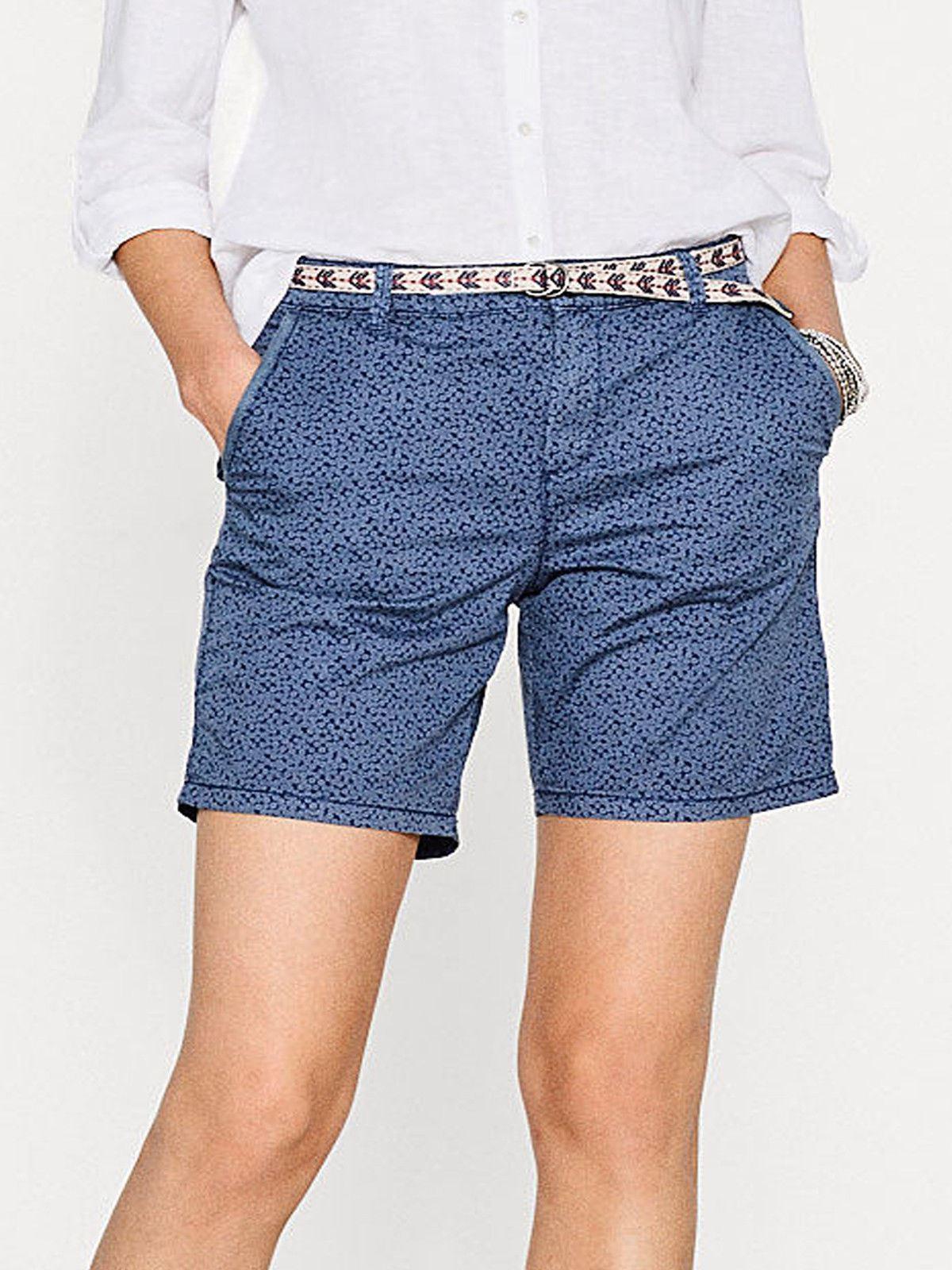 NEXT White Navy Ladies Linen ShortsSALEWas £22