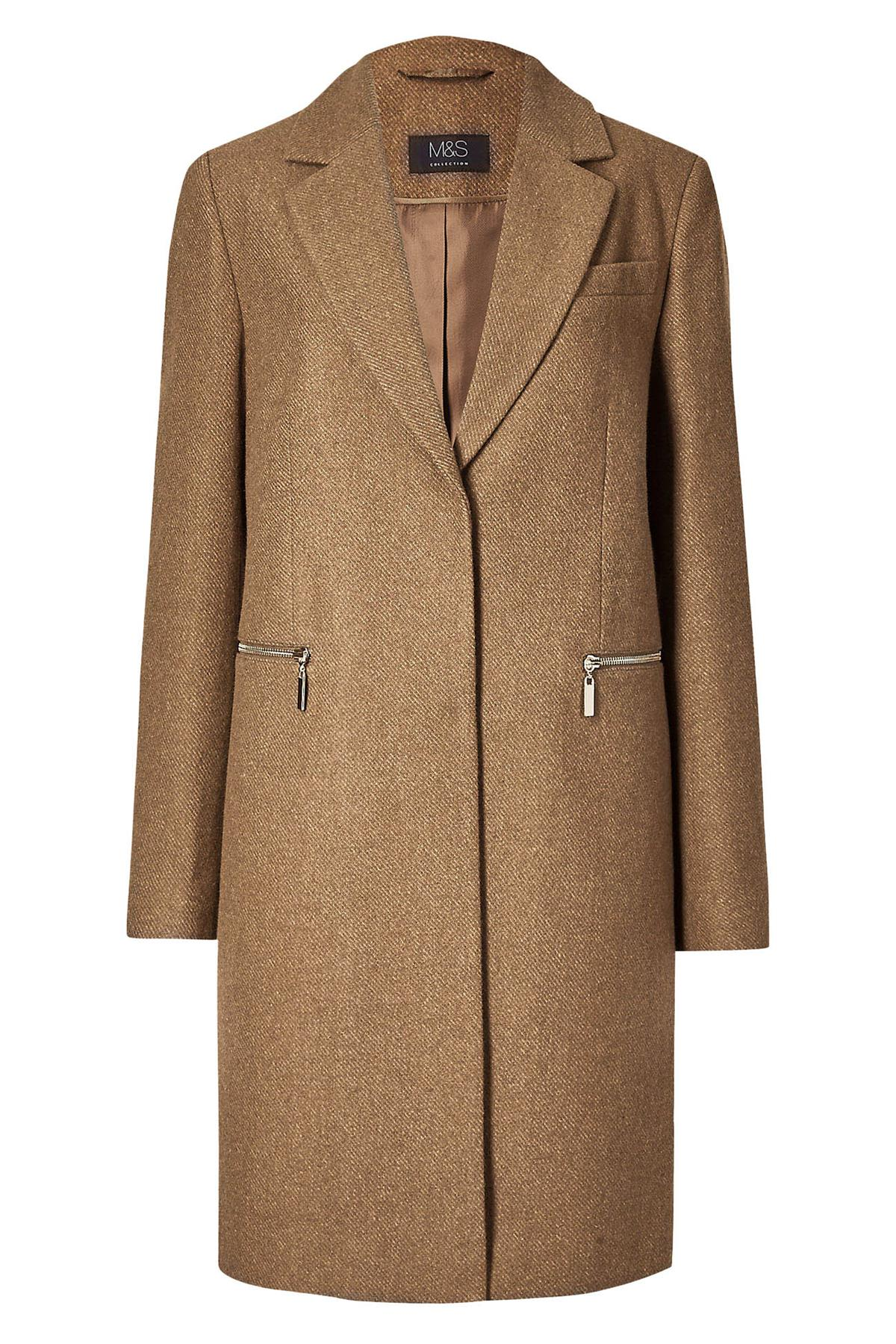 Marks-and-Spencer-Ladies-Size-20-M-amp-S-Pink-Wool-Blend-Coat-Womens thumbnail 9