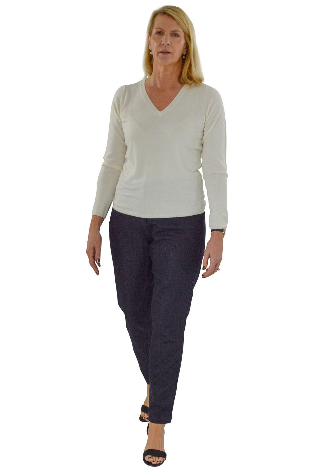 NEXT Ladies Dark Navy Work Trousers Classic Ankle Taper ShapeSALEWas £25