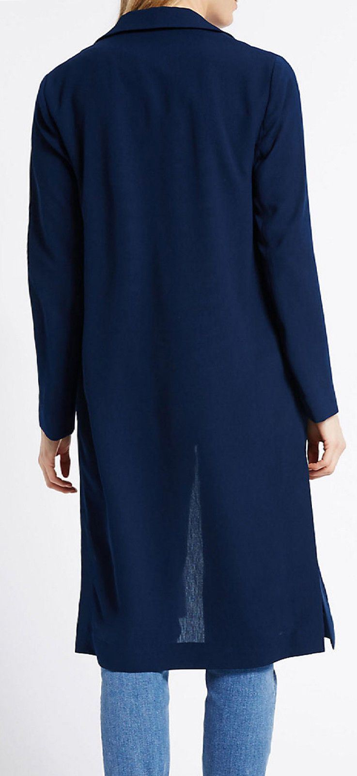 MARKS-AND-SPENCER-Black-or-Navy-Unlined-Crepe-Duster-Coat-SALE-Was-45 thumbnail 10