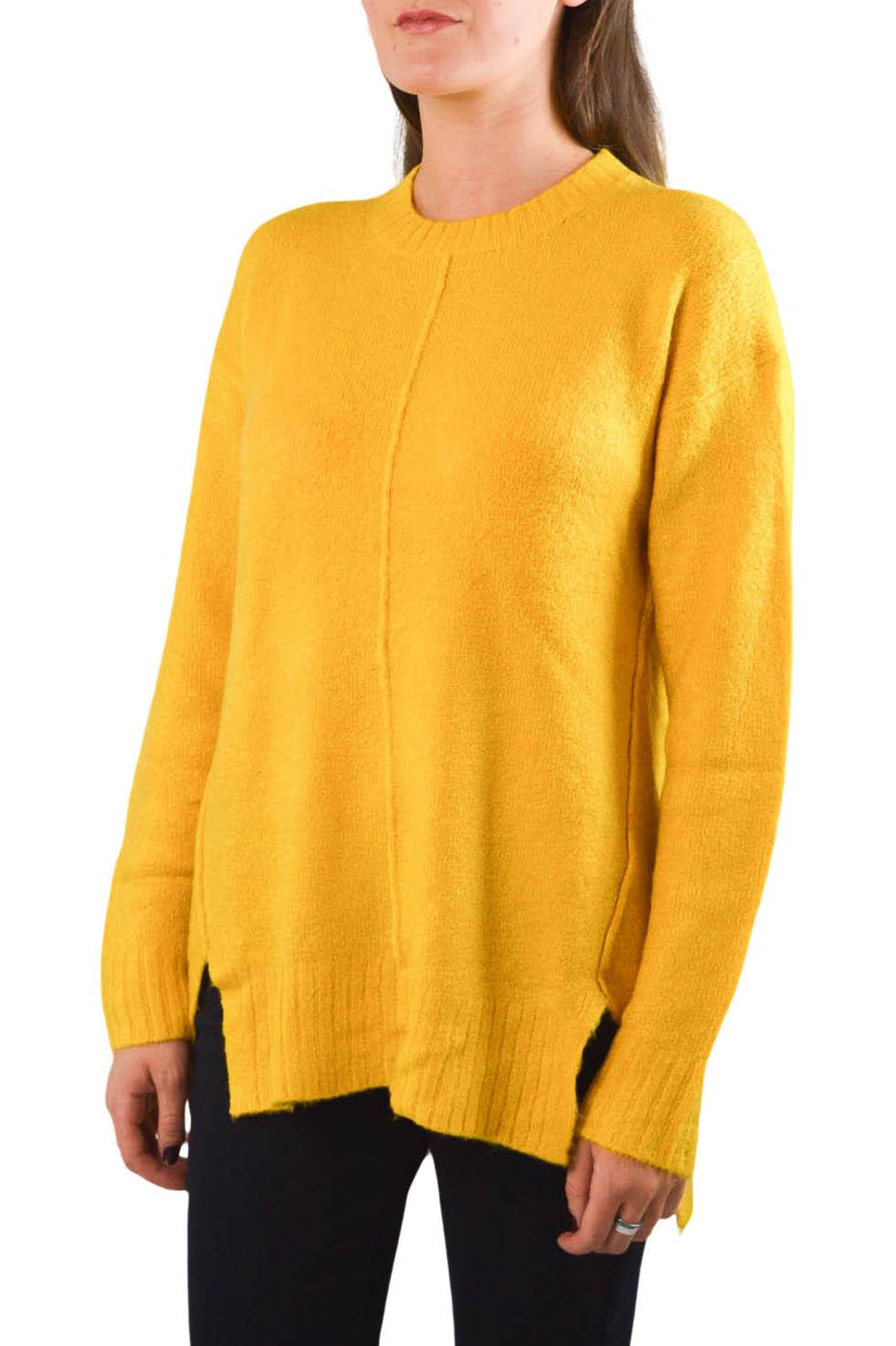 NEW-Ex-M-amp-S-Collection-Ladies-Relaxed-Fit-Round-Neck-Jumper-Pink-Purple-Ochre thumbnail 10