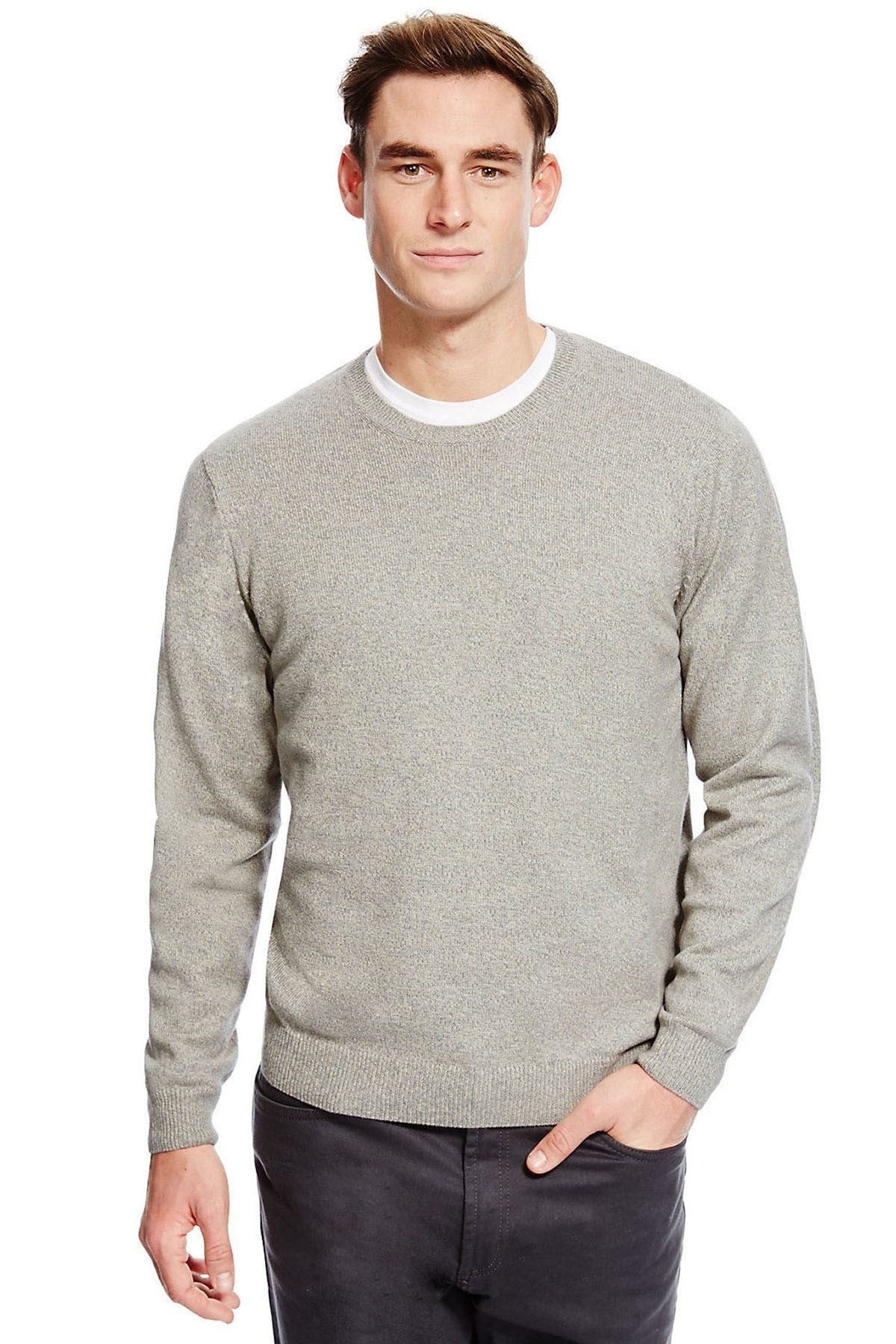 XL Ex M/&S Mens Casual Knitted Jumper Ex M/&S Cotton Pullover Sweater Sizes M