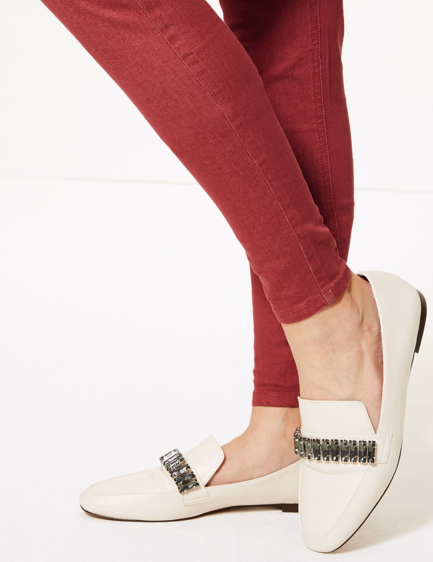 NEW-Ex-M-amp-S-Womens-Stretch-Fit-High-Waist-Skinny-Jeggings-Size-8-10-12-14-16-18 thumbnail 13