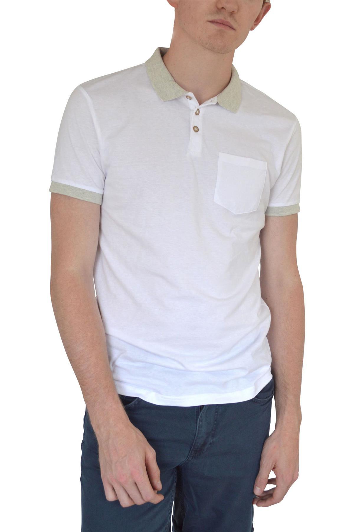 Ex-Mens-H-amp-M-Cotton-Polo-Shirt-Contrast-Collar-Size-S-XXL thumbnail 12