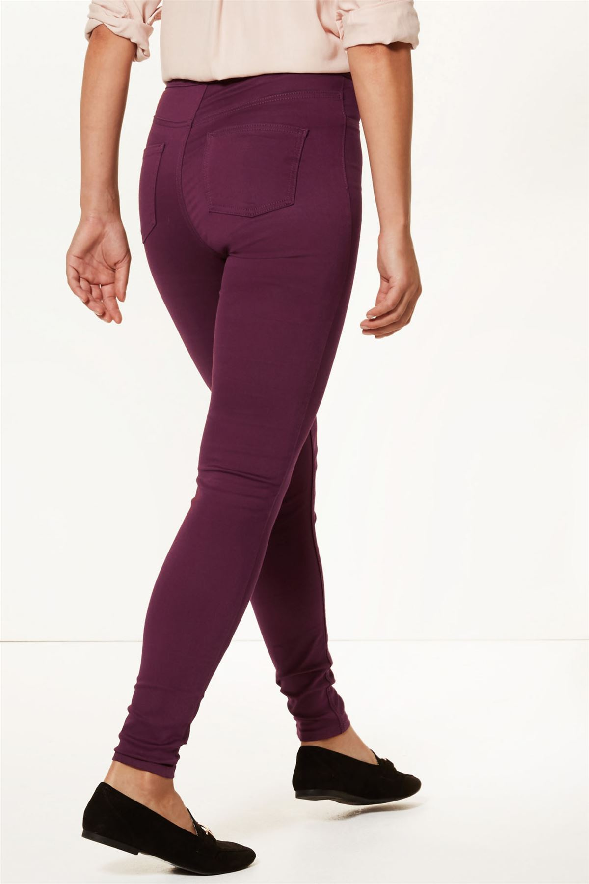 NEW-Ex-M-amp-S-Womens-Stretch-Fit-High-Waist-Skinny-Jeggings-Size-8-10-12-14-16-18 thumbnail 21