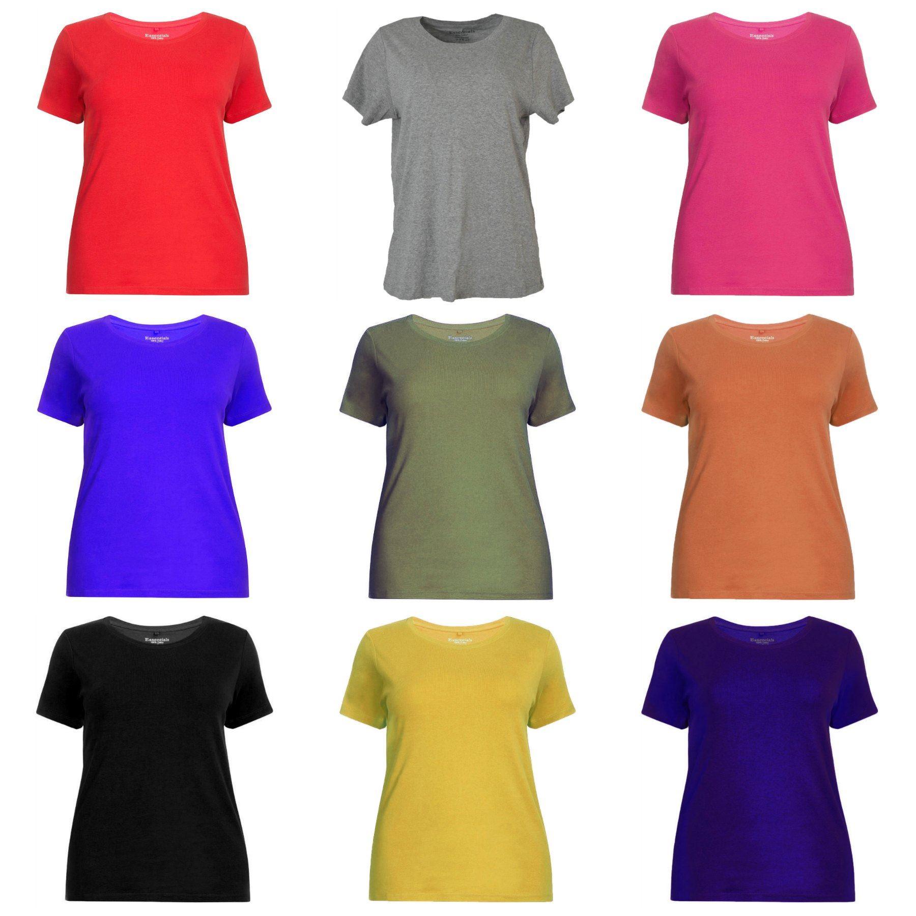 478b63e37 Details about Ex Evans Ladies Cotton Short Sleeve T Shirt Top Womens Plus  Size Tee