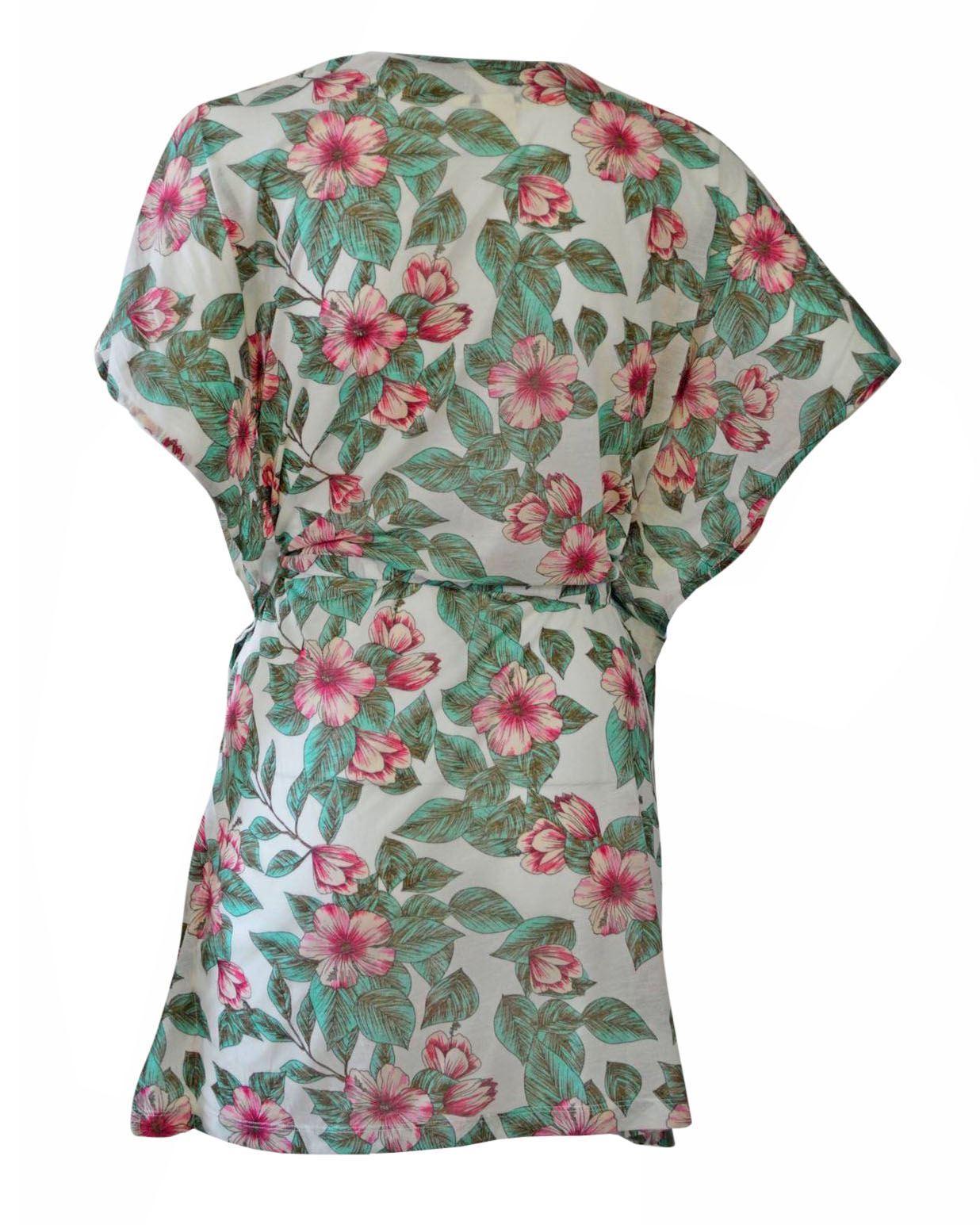 NEW-Ex-H-amp-M-Lightweight-Summer-Beach-Cover-Top-Kaftan-Floral-Print-Size-XS-XL thumbnail 9