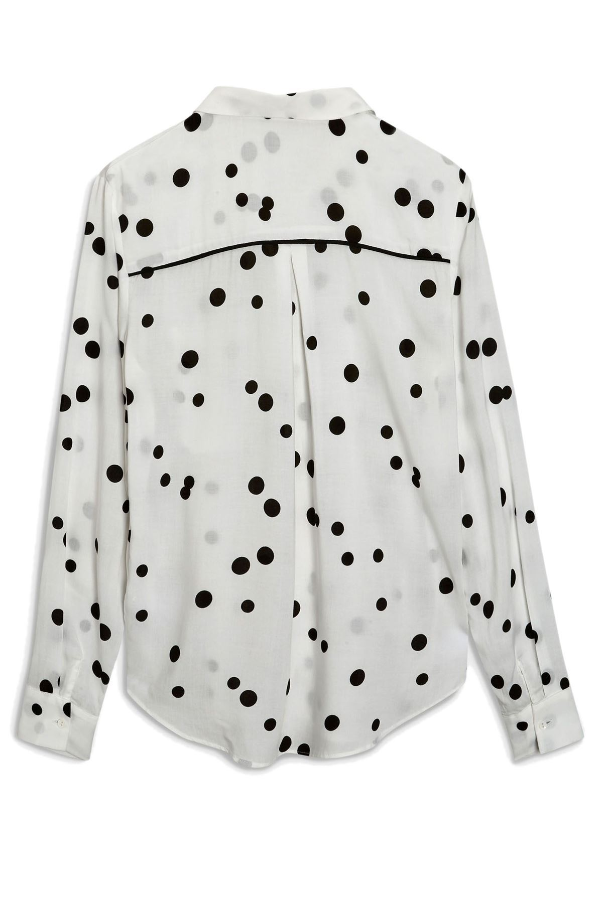 NEXT-Black-White-Spotted-Long-Sleeve-Silky-Shirt-Blouse-SALE-Was-24 thumbnail 17