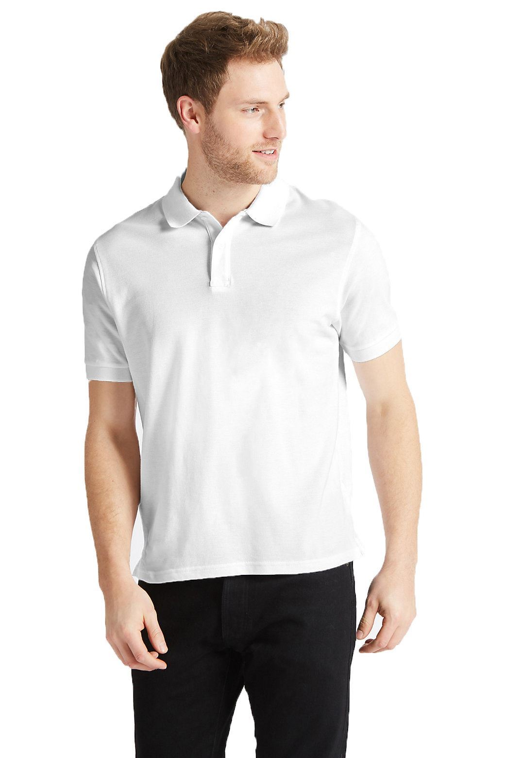 Marks-amp-Spencer-Mens-Cotton-Pique-Polo-Shirt-Extra-Large-Sizes thumbnail 24