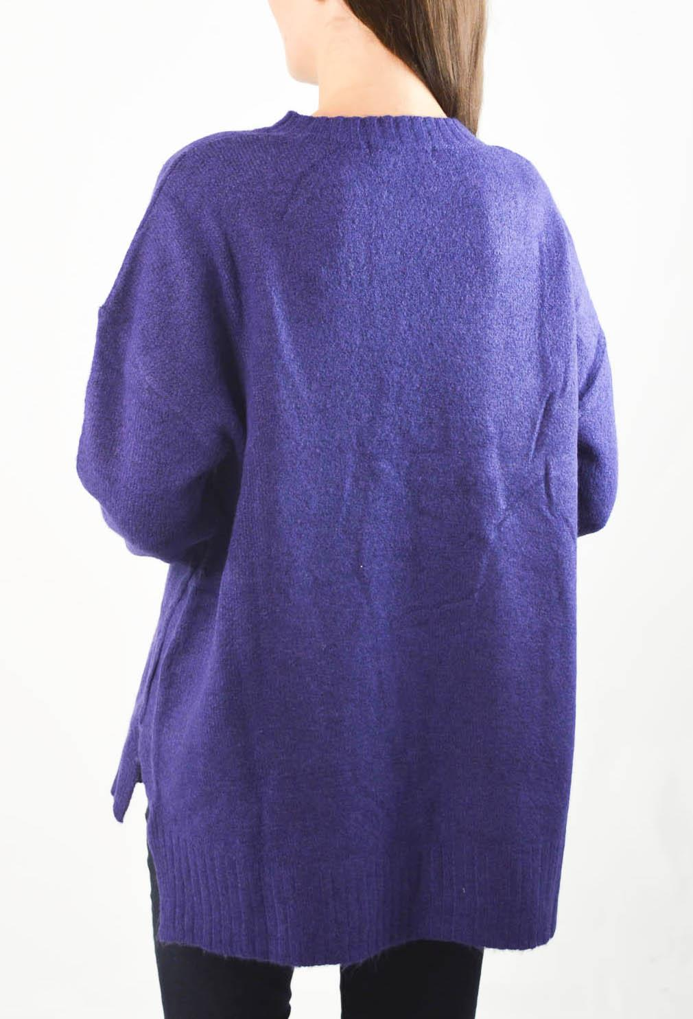 NEW-Ex-M-amp-S-Collection-Ladies-Relaxed-Fit-Round-Neck-Jumper-Pink-Purple-Ochre thumbnail 8