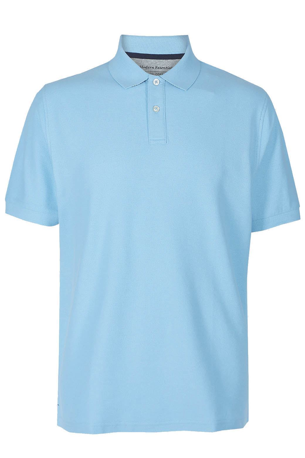 MARKS-amp-SPENCER-Mens-Classic-Cotton-Polo-Shirt-M-amp-S-All-Colours-and-Large-Sizes thumbnail 21