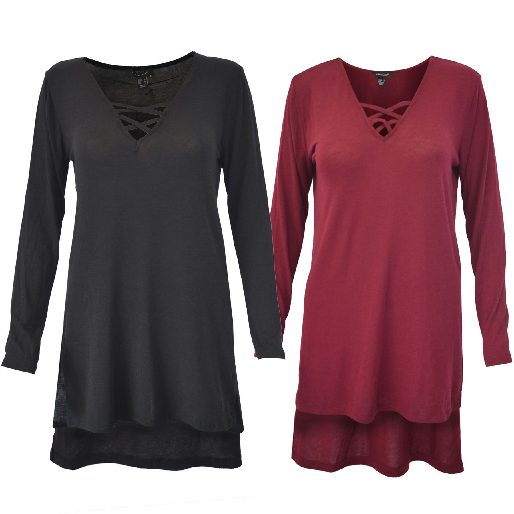 Ex M/&S Pink Long Sleeve Swing Top V Neck New Sizes 20 22 24